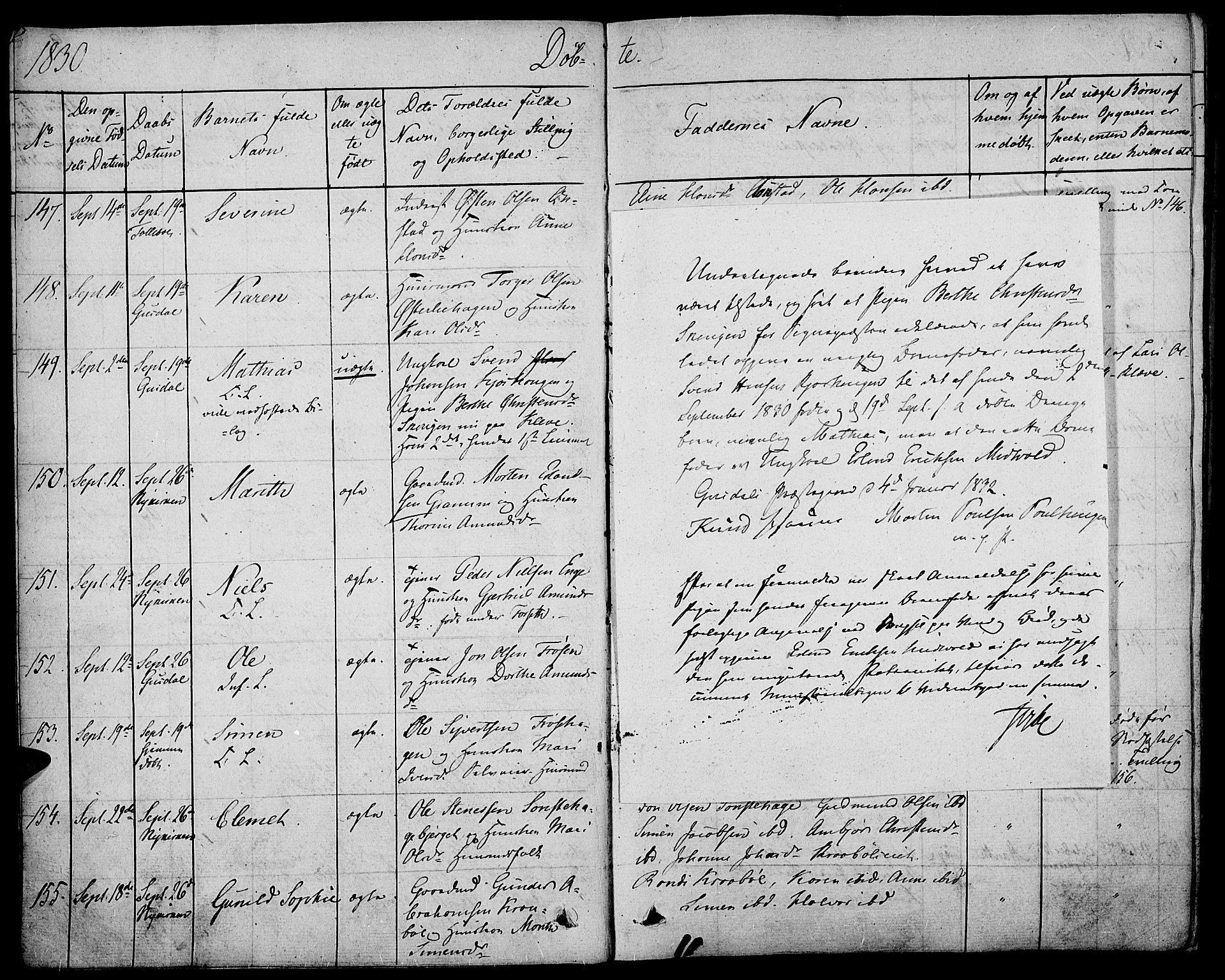 SAH, Gausdal prestekontor, Ministerialbok nr. 6, 1830-1839, s. 9b