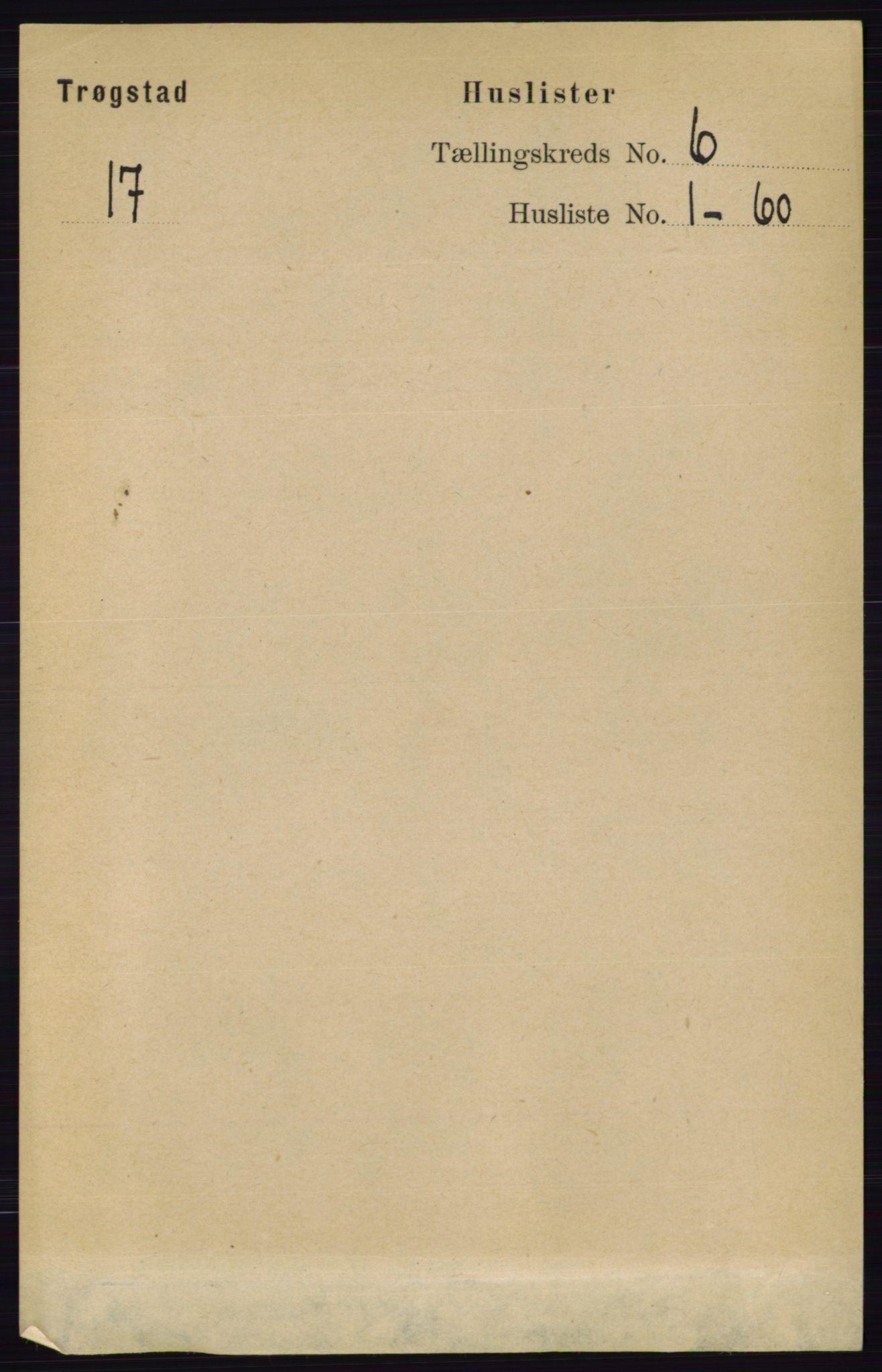 RA, Folketelling 1891 for 0122 Trøgstad herred, 1891, s. 2423