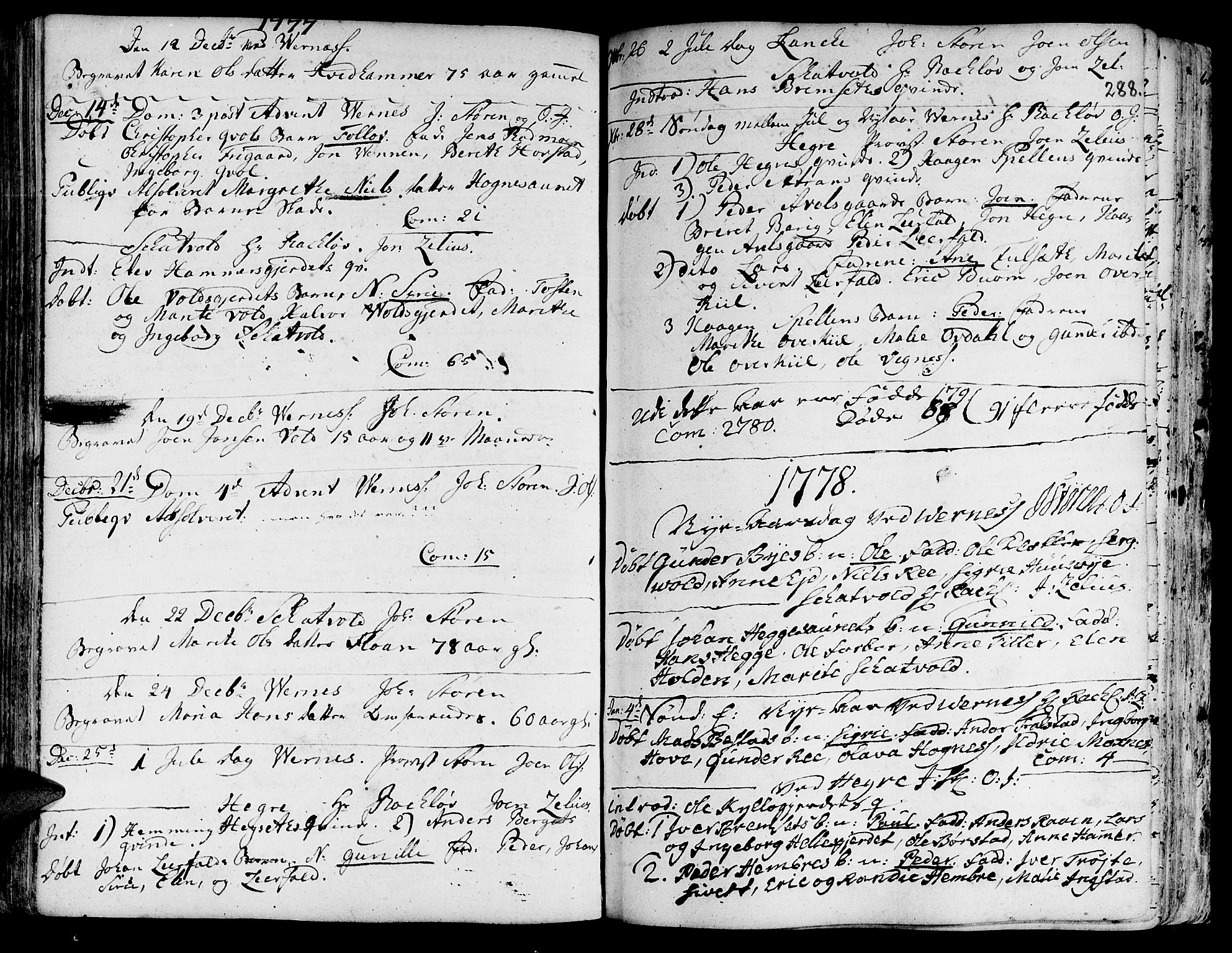 SAT, Ministerialprotokoller, klokkerbøker og fødselsregistre - Nord-Trøndelag, 709/L0057: Ministerialbok nr. 709A05, 1755-1780, s. 288