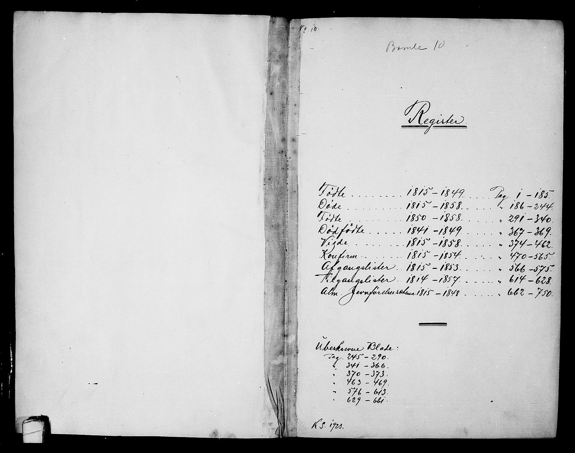 SAKO, Langesund kirkebøker, G/Ga/L0003: Klokkerbok nr. 3, 1815-1858