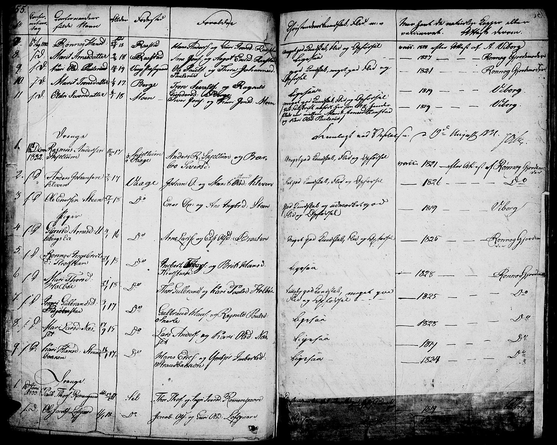 SAH, Vågå prestekontor, Ministerialbok nr. 4 /1, 1827-1842, s. 155