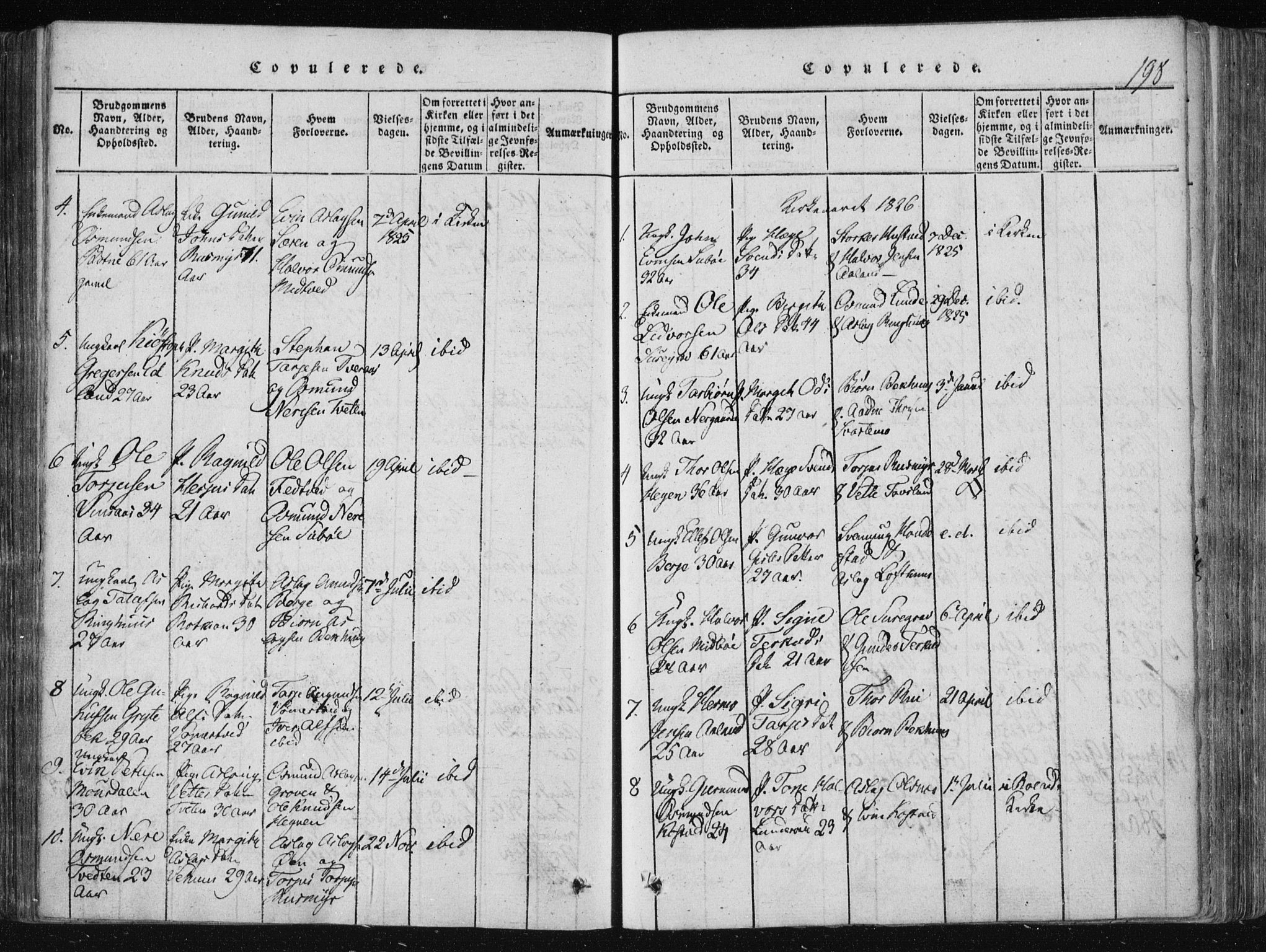 SAKO, Vinje kirkebøker, F/Fa/L0003: Ministerialbok nr. I 3, 1814-1843, s. 198