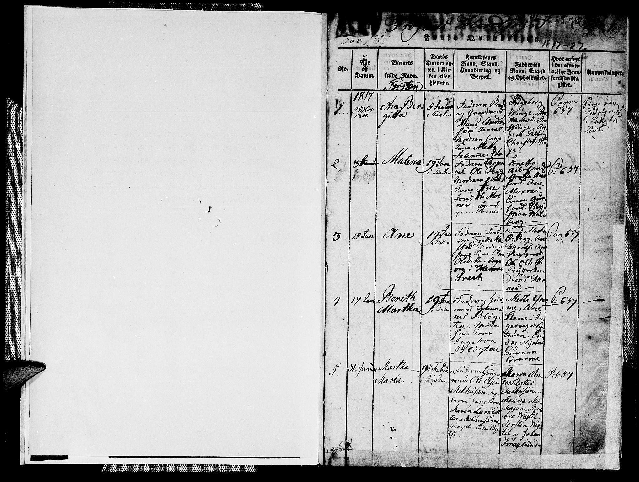 SAT, Ministerialprotokoller, klokkerbøker og fødselsregistre - Nord-Trøndelag, 713/L0112: Ministerialbok nr. 713A04 /1, 1817-1827, s. 0-1