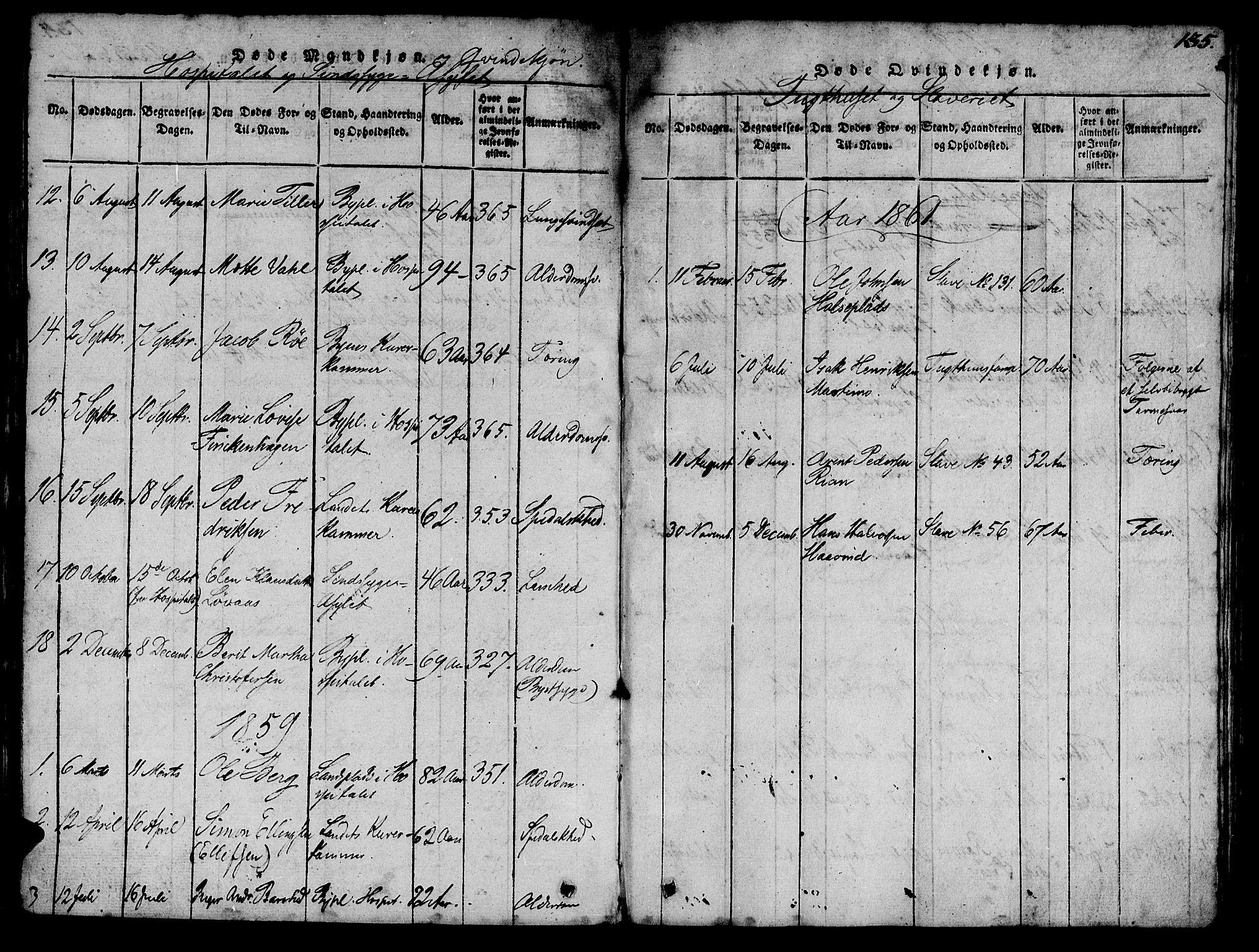 SAT, Ministerialprotokoller, klokkerbøker og fødselsregistre - Sør-Trøndelag, 623/L0478: Klokkerbok nr. 623C01, 1815-1873, s. 135