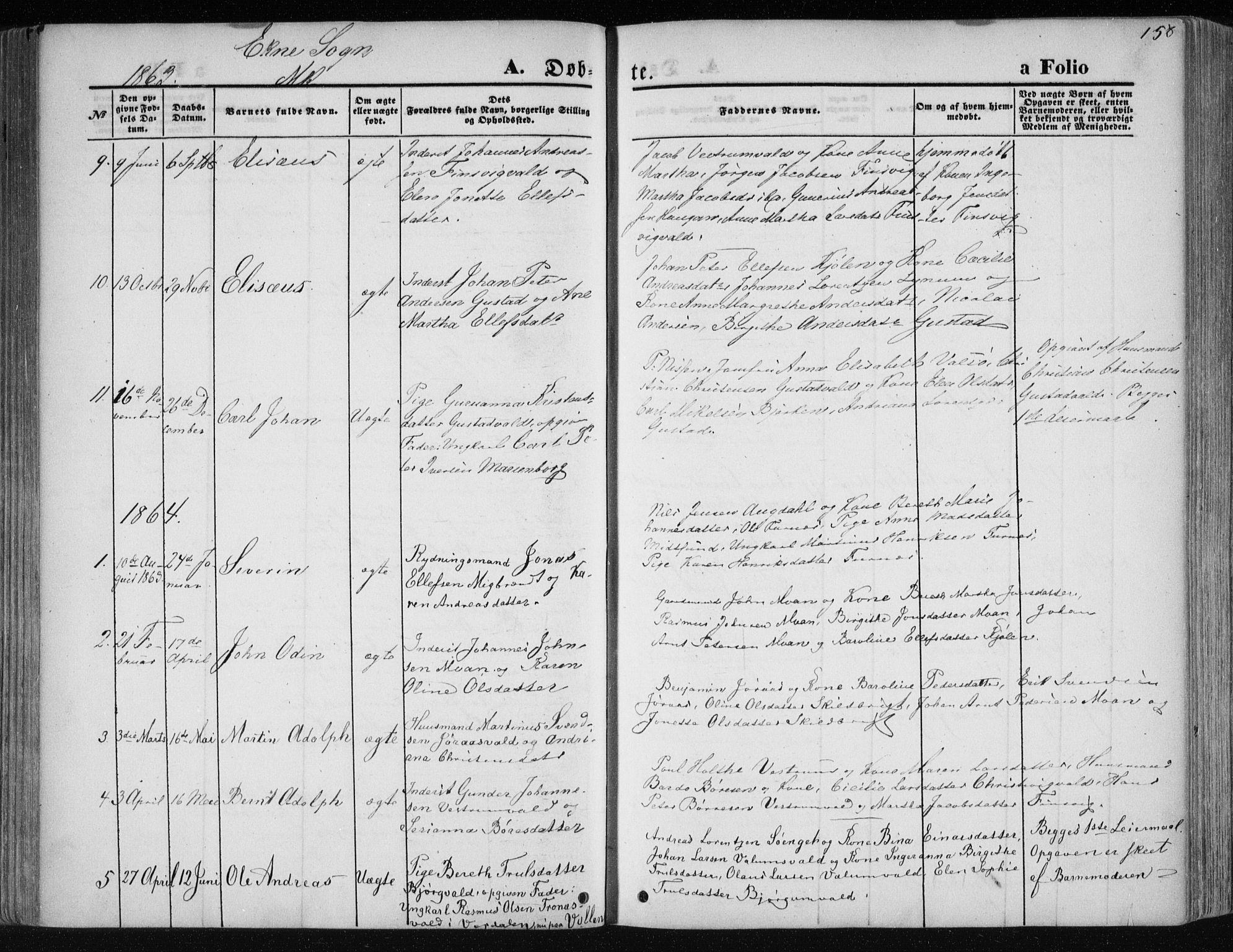 SAT, Ministerialprotokoller, klokkerbøker og fødselsregistre - Nord-Trøndelag, 717/L0158: Ministerialbok nr. 717A08 /2, 1863-1877, s. 158