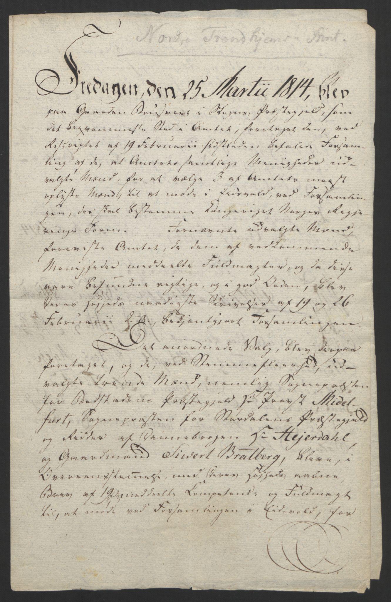 RA, Statsrådssekretariatet, D/Db/L0008: Fullmakter for Eidsvollsrepresentantene i 1814. , 1814, s. 463