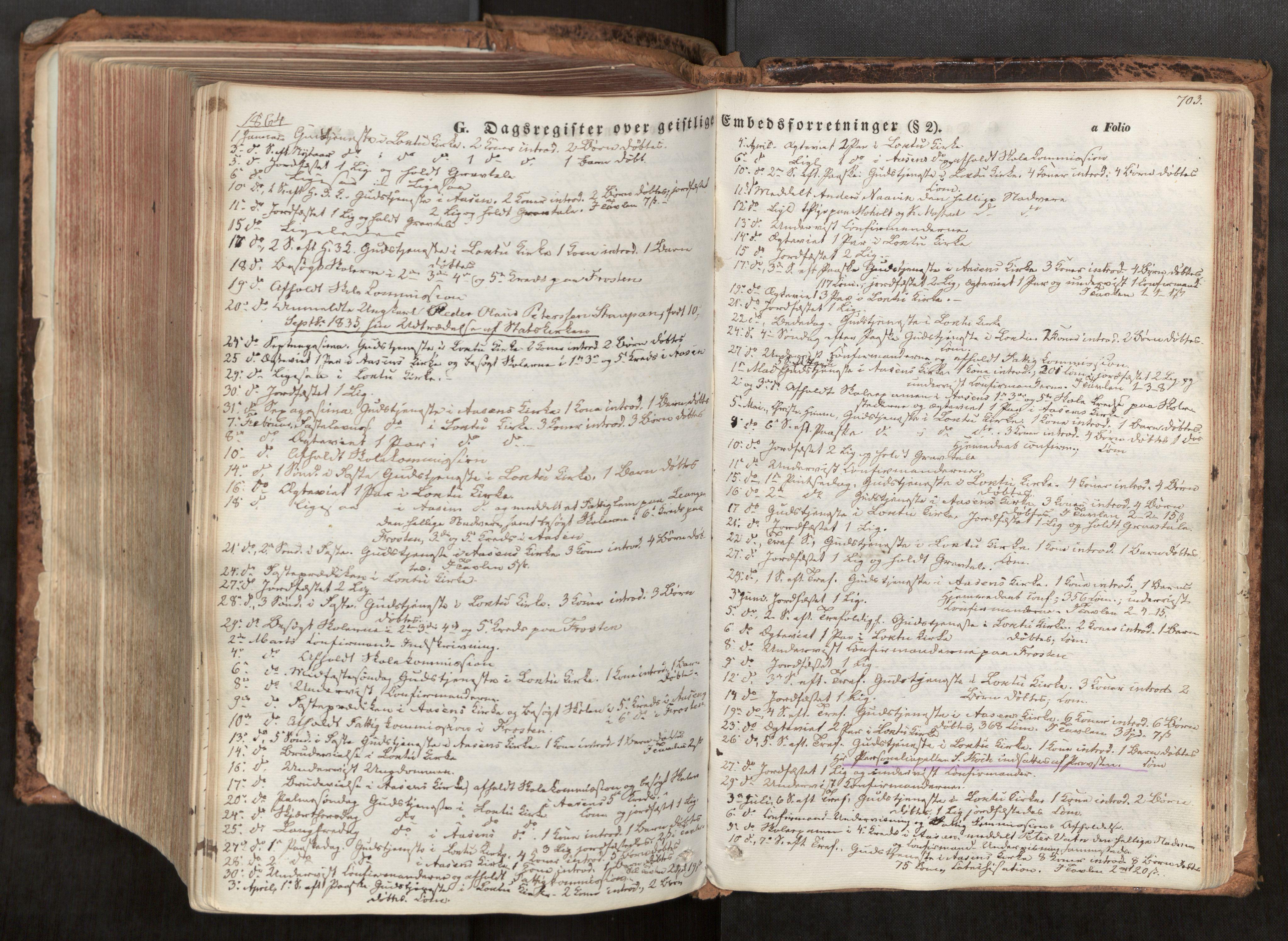 SAT, Ministerialprotokoller, klokkerbøker og fødselsregistre - Nord-Trøndelag, 713/L0116: Ministerialbok nr. 713A07, 1850-1877, s. 703