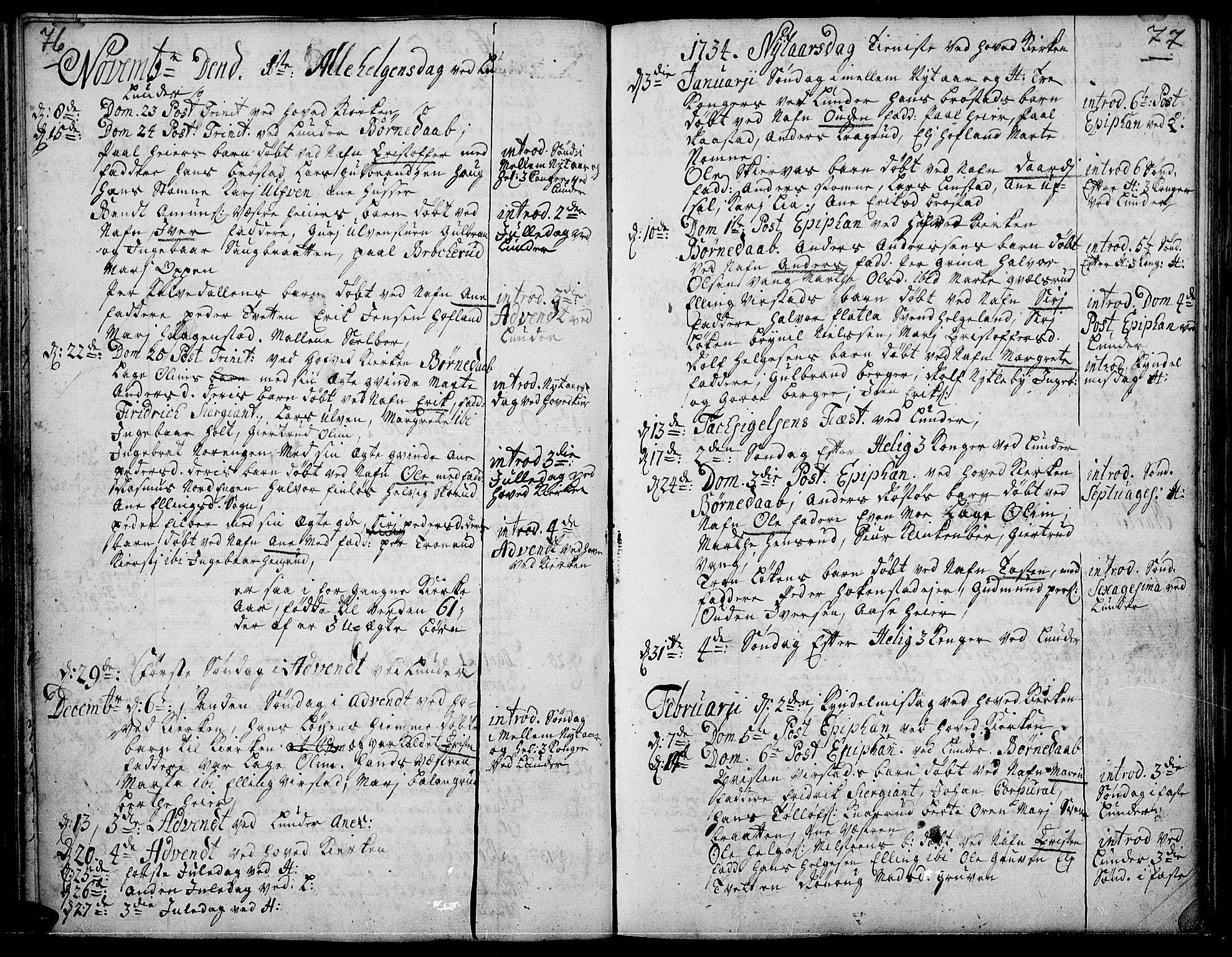 SAH, Jevnaker prestekontor, Ministerialbok nr. 2, 1725-1751, s. 76-77
