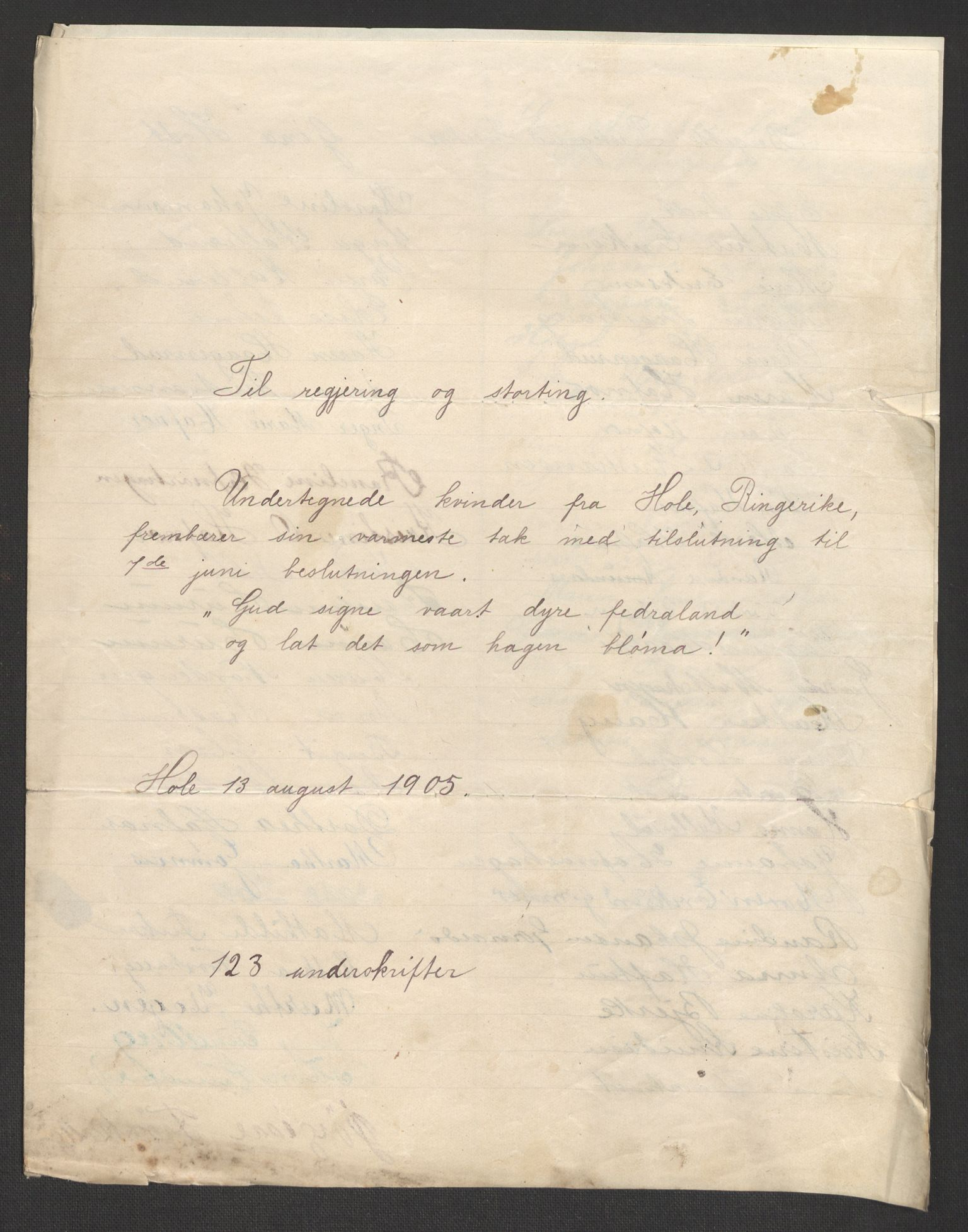 RA, Justisdepartementet, 2. sivilkontor C, F/L0125B: Folkeavstemmingen august 1905, 1905, s. 29