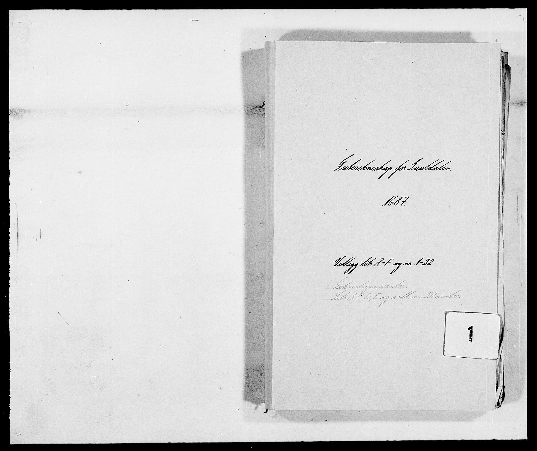 RA, Rentekammeret inntil 1814, Reviderte regnskaper, Fogderegnskap, R59/L3939: Fogderegnskap Gauldal, 1687-1688, s. 1