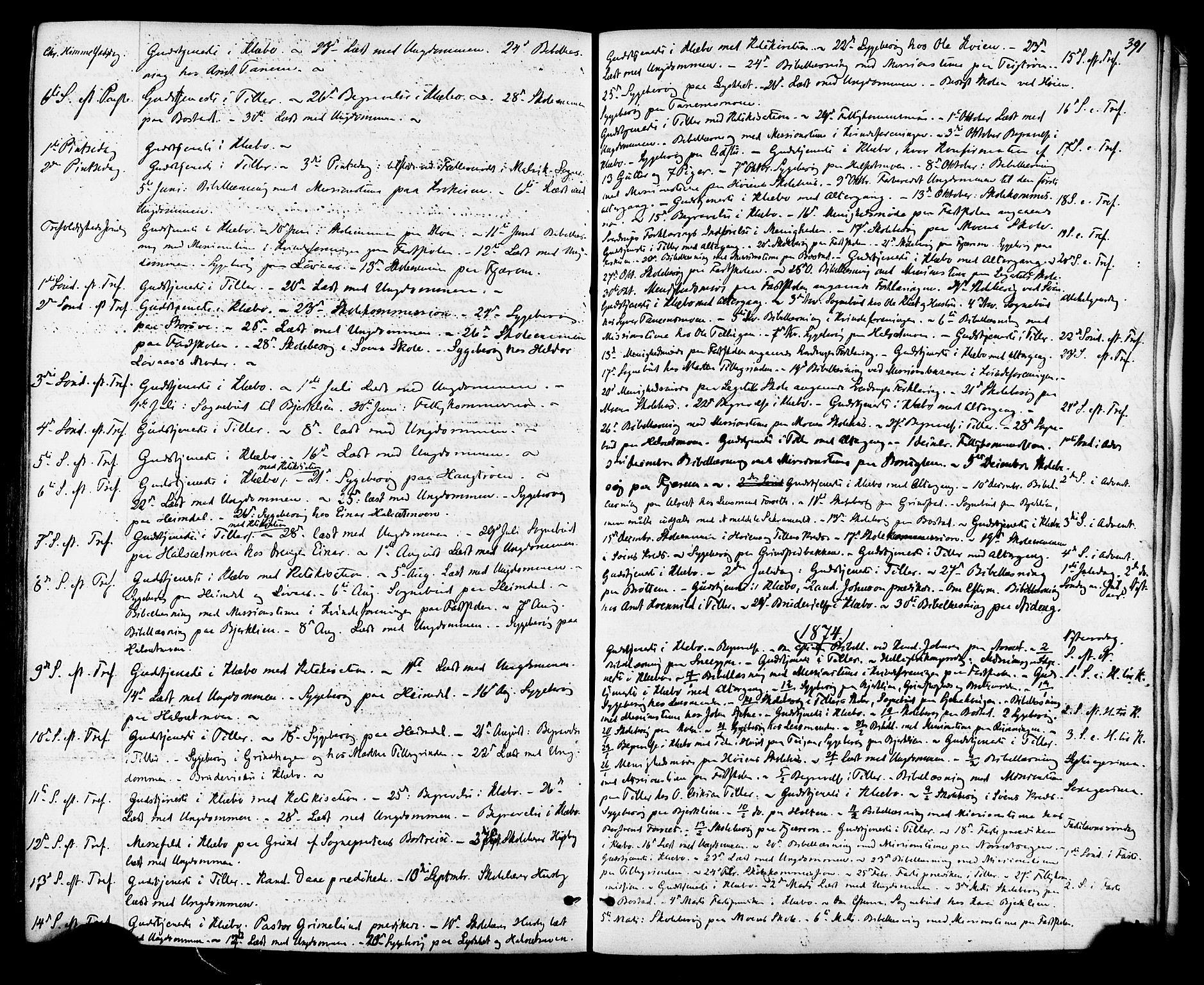 SAT, Ministerialprotokoller, klokkerbøker og fødselsregistre - Sør-Trøndelag, 618/L0442: Ministerialbok nr. 618A06 /1, 1863-1879, s. 391