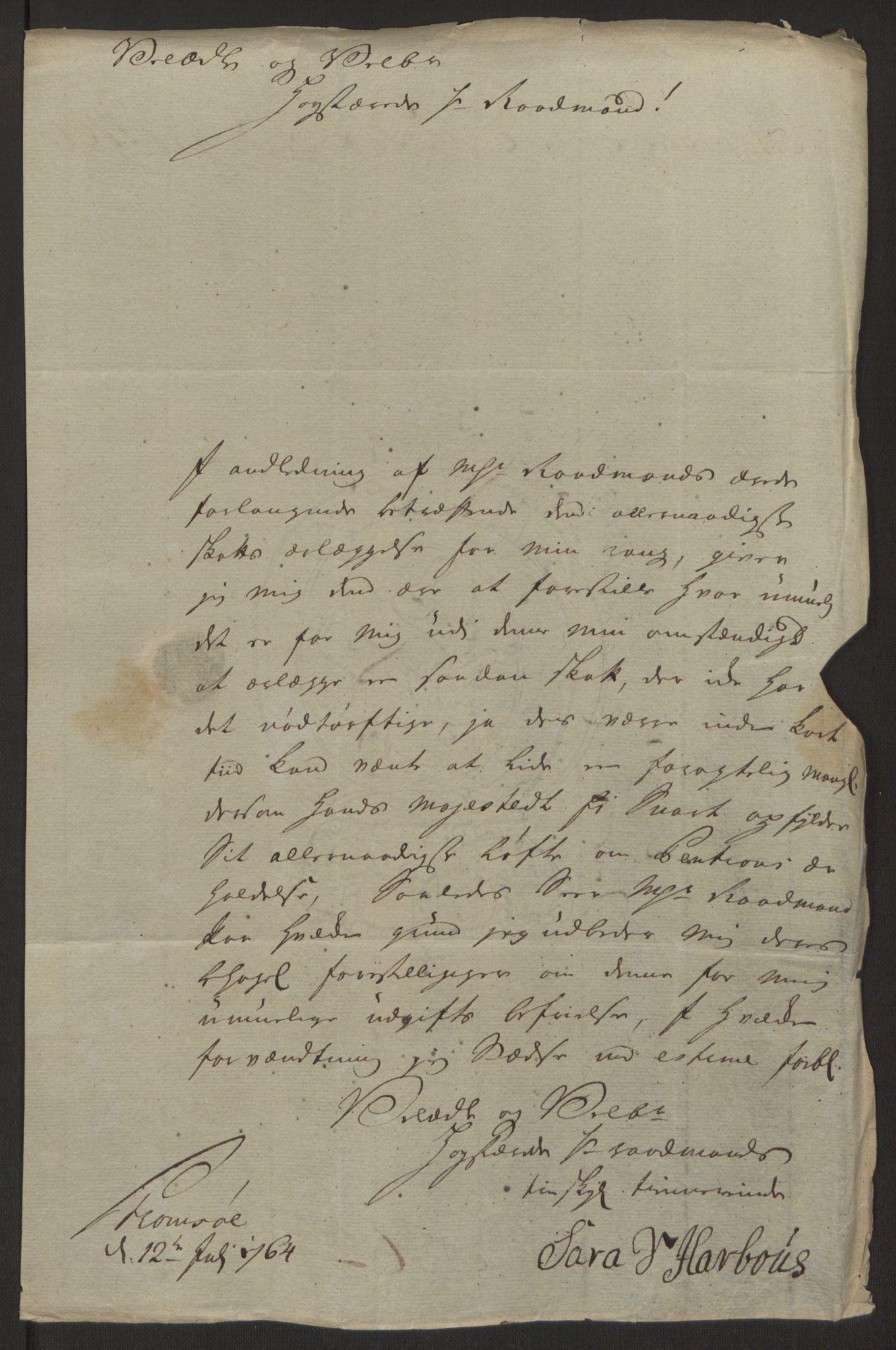 RA, Rentekammeret inntil 1814, Reviderte regnskaper, Byregnskaper, R/Rg/L0144: [G4] Kontribusjonsregnskap, 1762-1767, s. 312