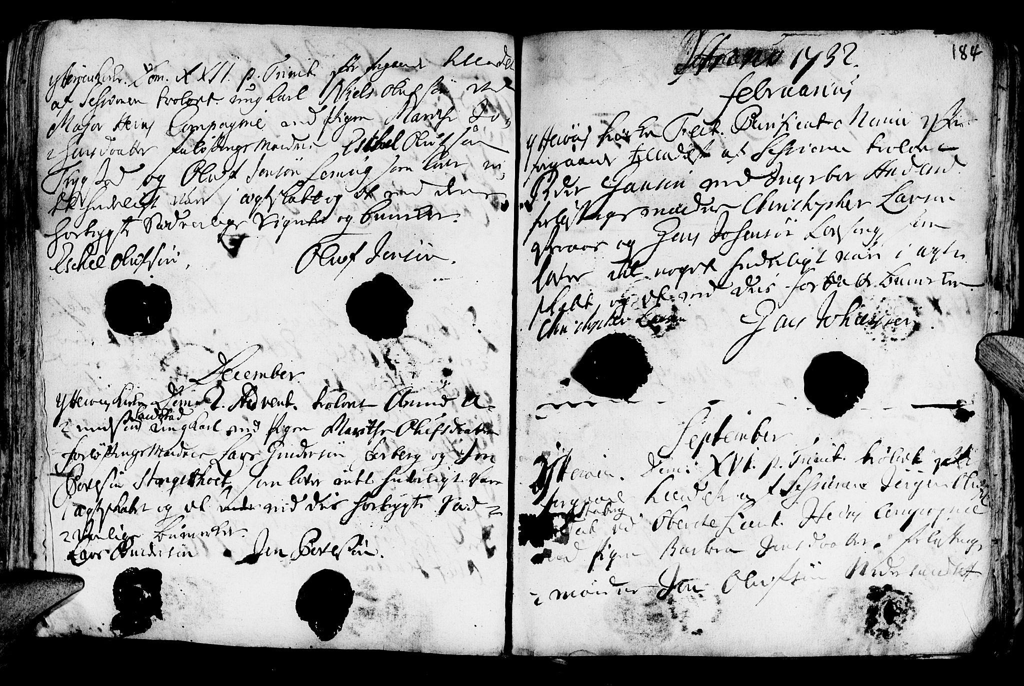 SAT, Ministerialprotokoller, klokkerbøker og fødselsregistre - Nord-Trøndelag, 722/L0215: Ministerialbok nr. 722A02, 1718-1755, s. 184