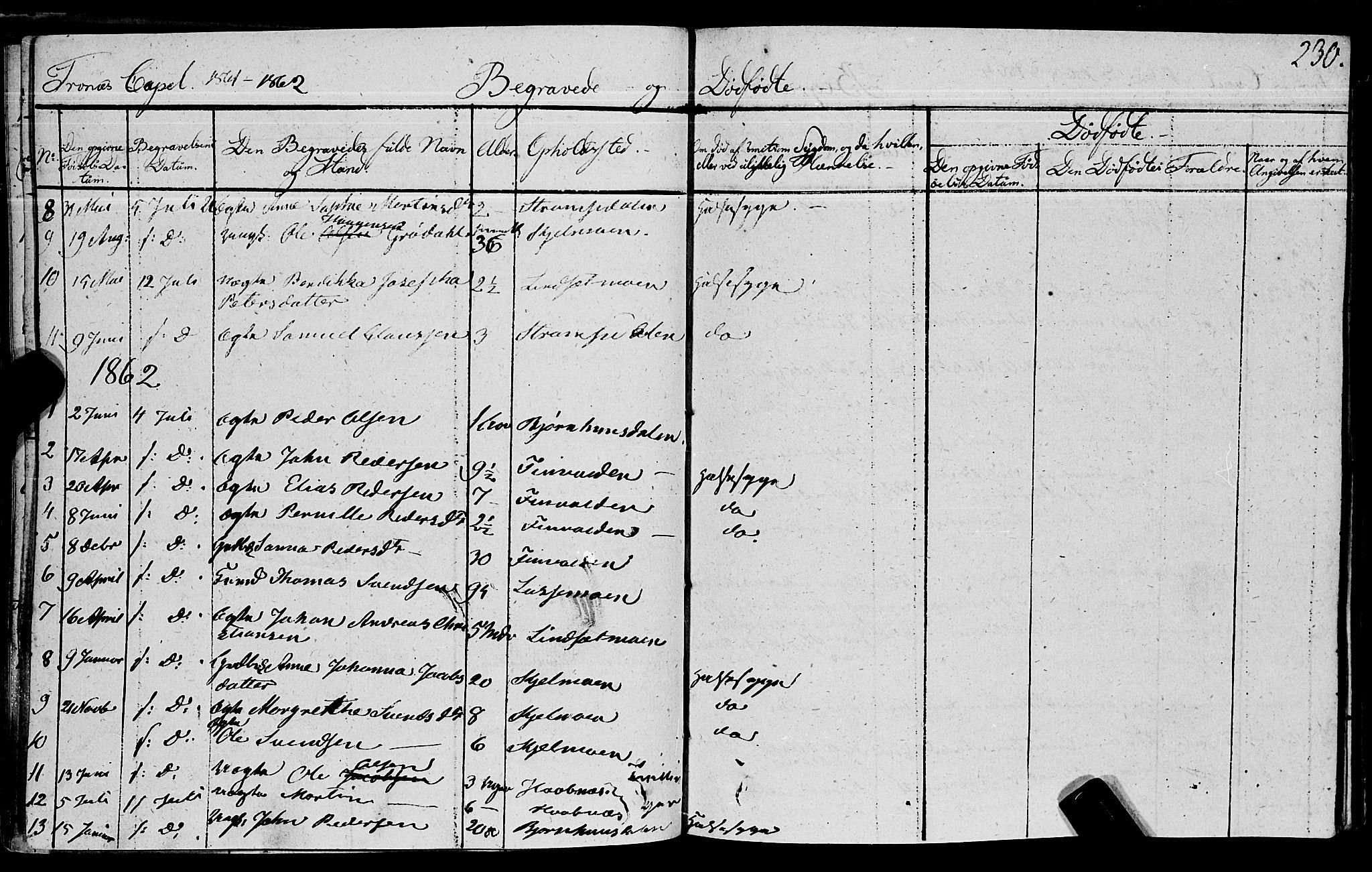 SAT, Ministerialprotokoller, klokkerbøker og fødselsregistre - Nord-Trøndelag, 762/L0538: Ministerialbok nr. 762A02 /2, 1833-1879, s. 230