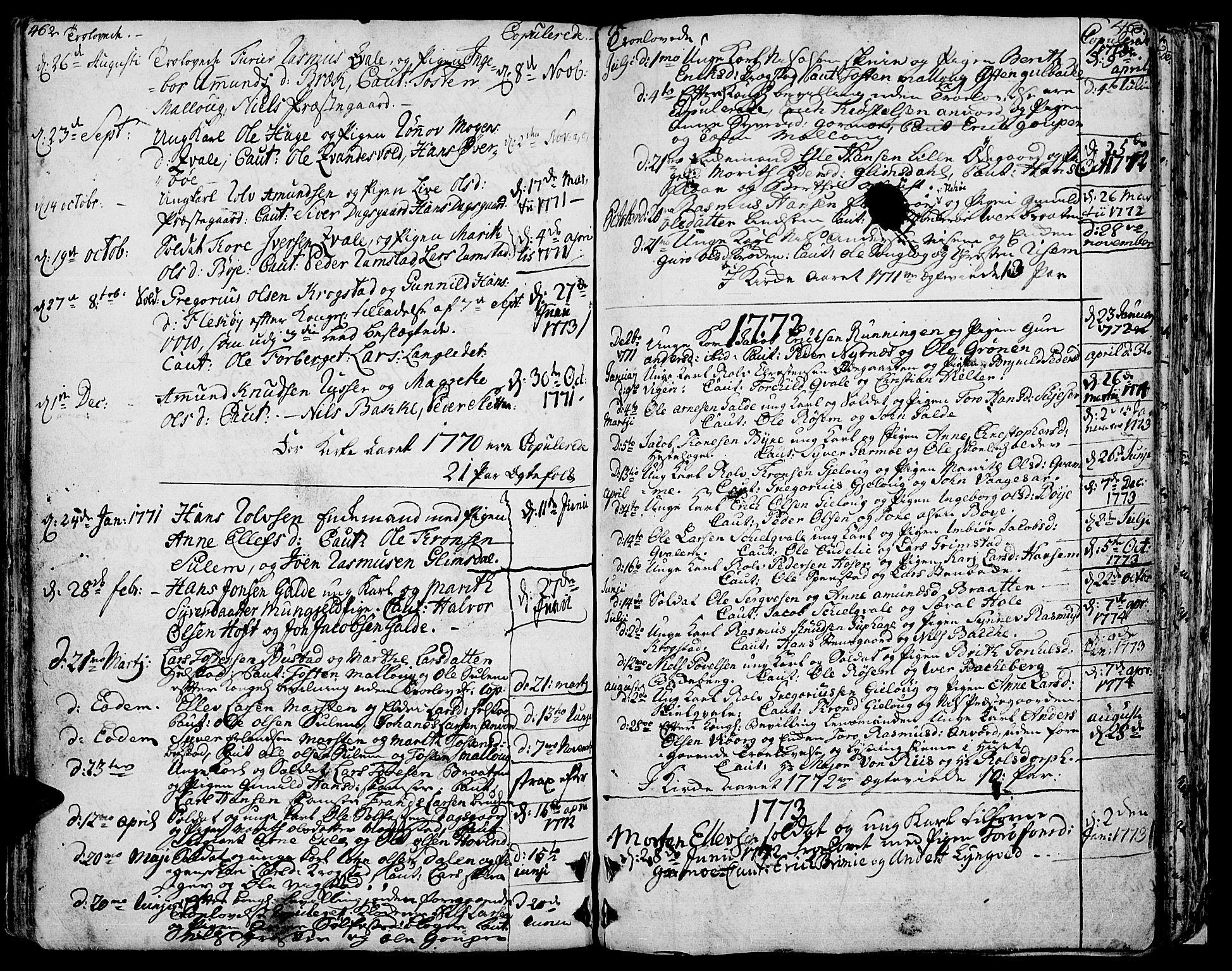 SAH, Lom prestekontor, K/L0002: Ministerialbok nr. 2, 1749-1801, s. 462-463