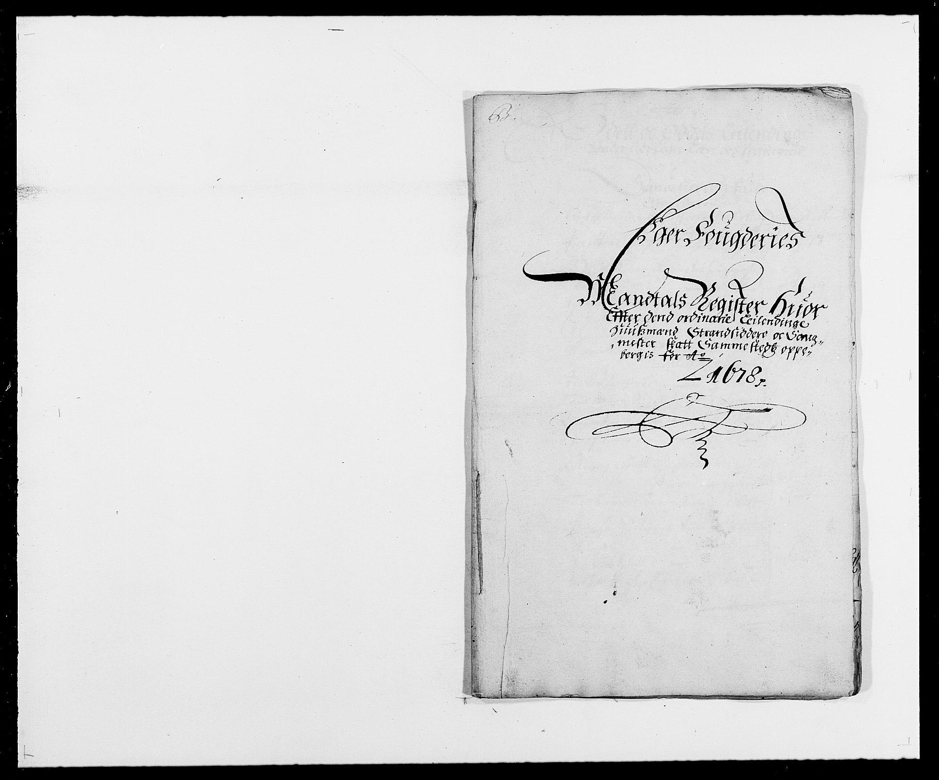 RA, Rentekammeret inntil 1814, Reviderte regnskaper, Fogderegnskap, R26/L1683: Fogderegnskap Eiker, 1678, s. 14