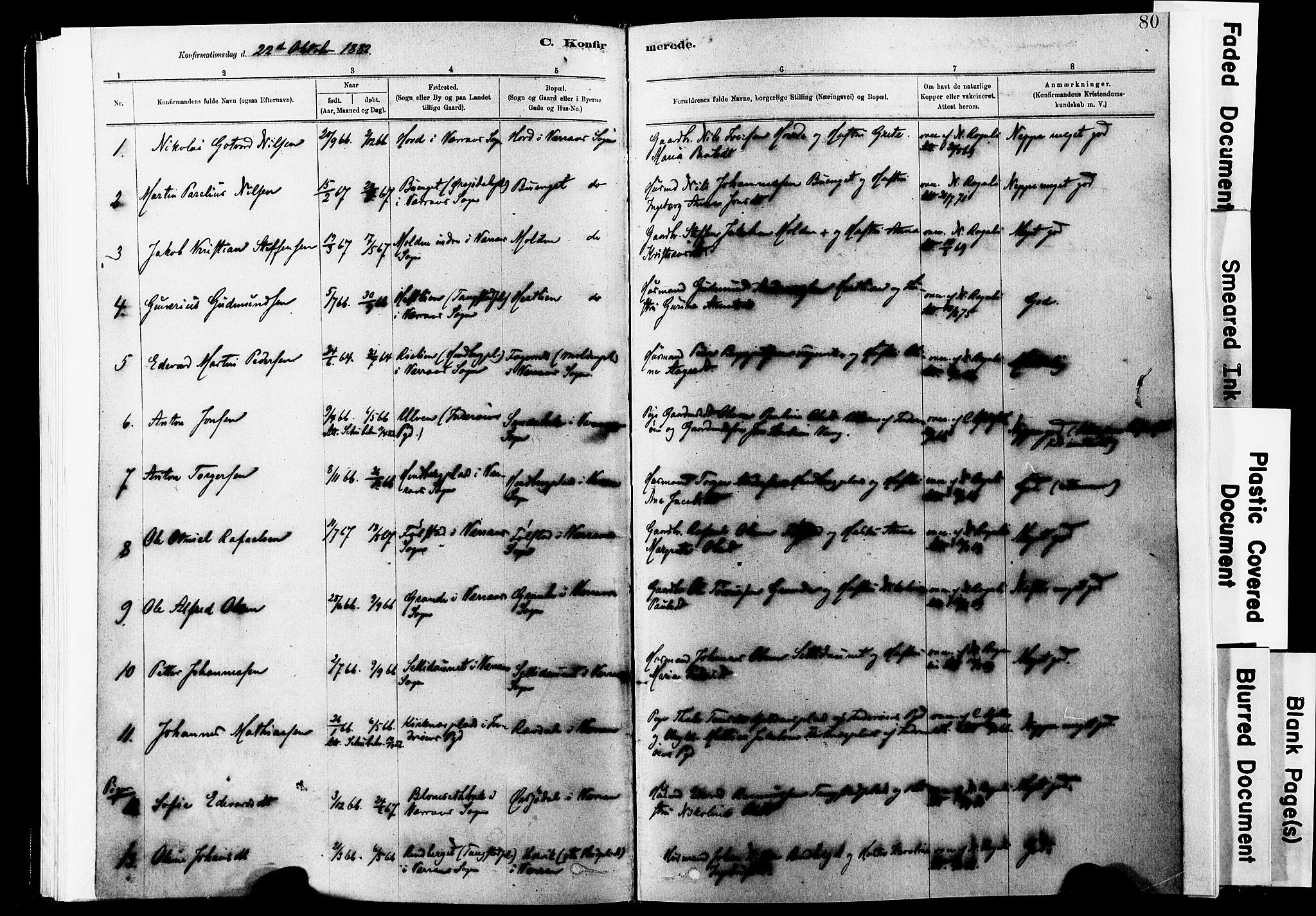 SAT, Ministerialprotokoller, klokkerbøker og fødselsregistre - Nord-Trøndelag, 744/L0420: Ministerialbok nr. 744A04, 1882-1904, s. 80
