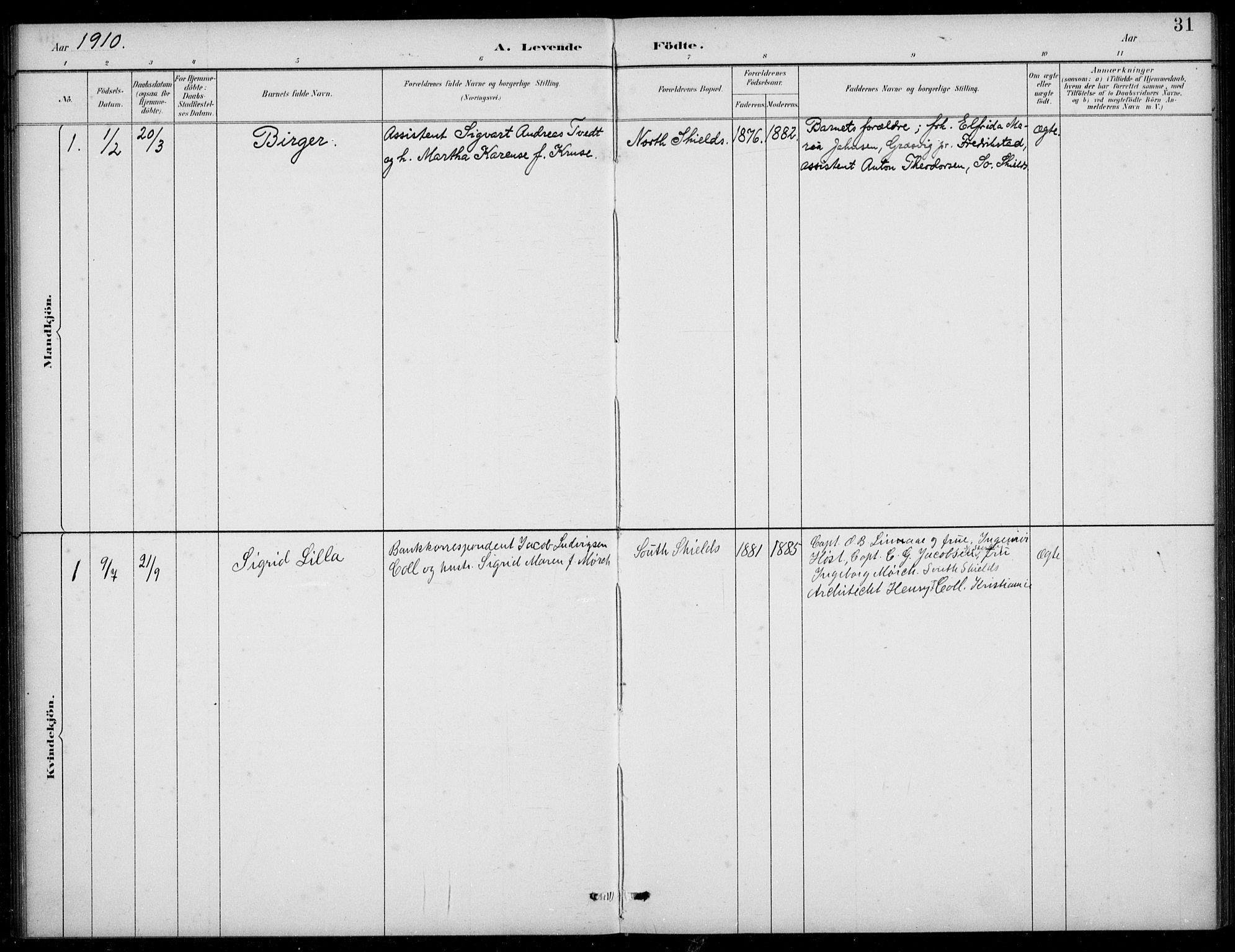 SAB, Den Norske Sjømannsmisjon i utlandet*, Ministerialbok nr. A 2, 1883-1936, s. 31