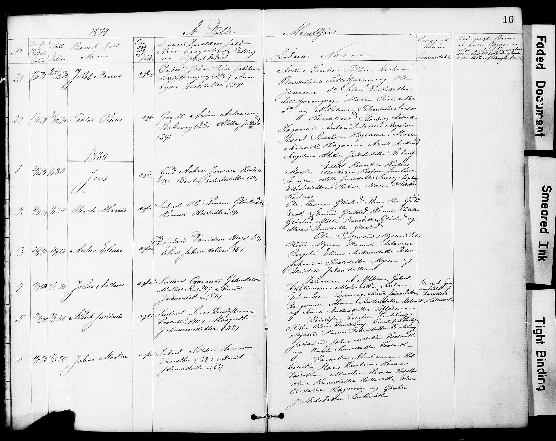 SAT, Ministerialprotokoller, klokkerbøker og fødselsregistre - Sør-Trøndelag, 634/L0541: Klokkerbok nr. 634C03, 1874-1891, s. 16