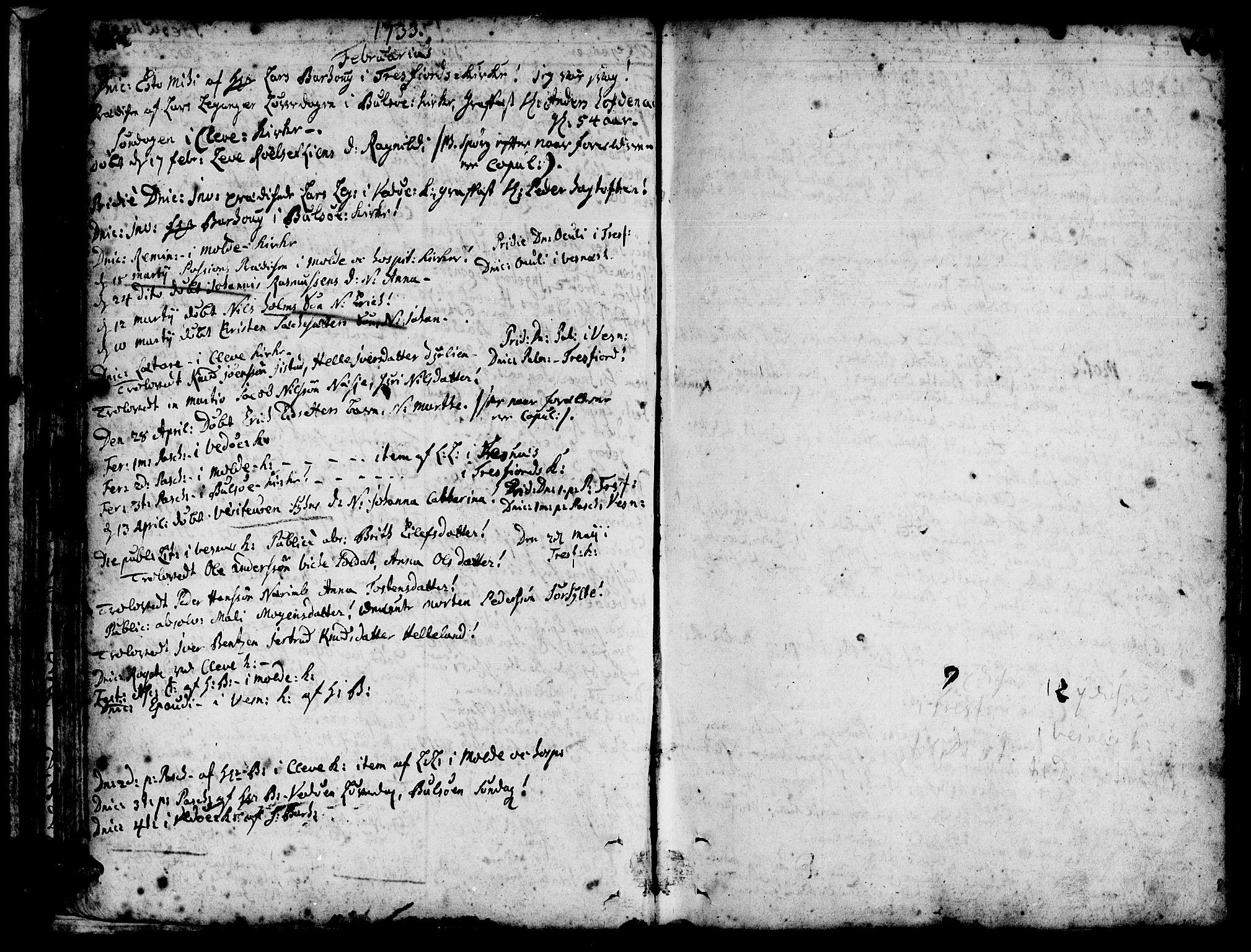 SAT, Ministerialprotokoller, klokkerbøker og fødselsregistre - Møre og Romsdal, 547/L0599: Ministerialbok nr. 547A01, 1721-1764, s. 134-135
