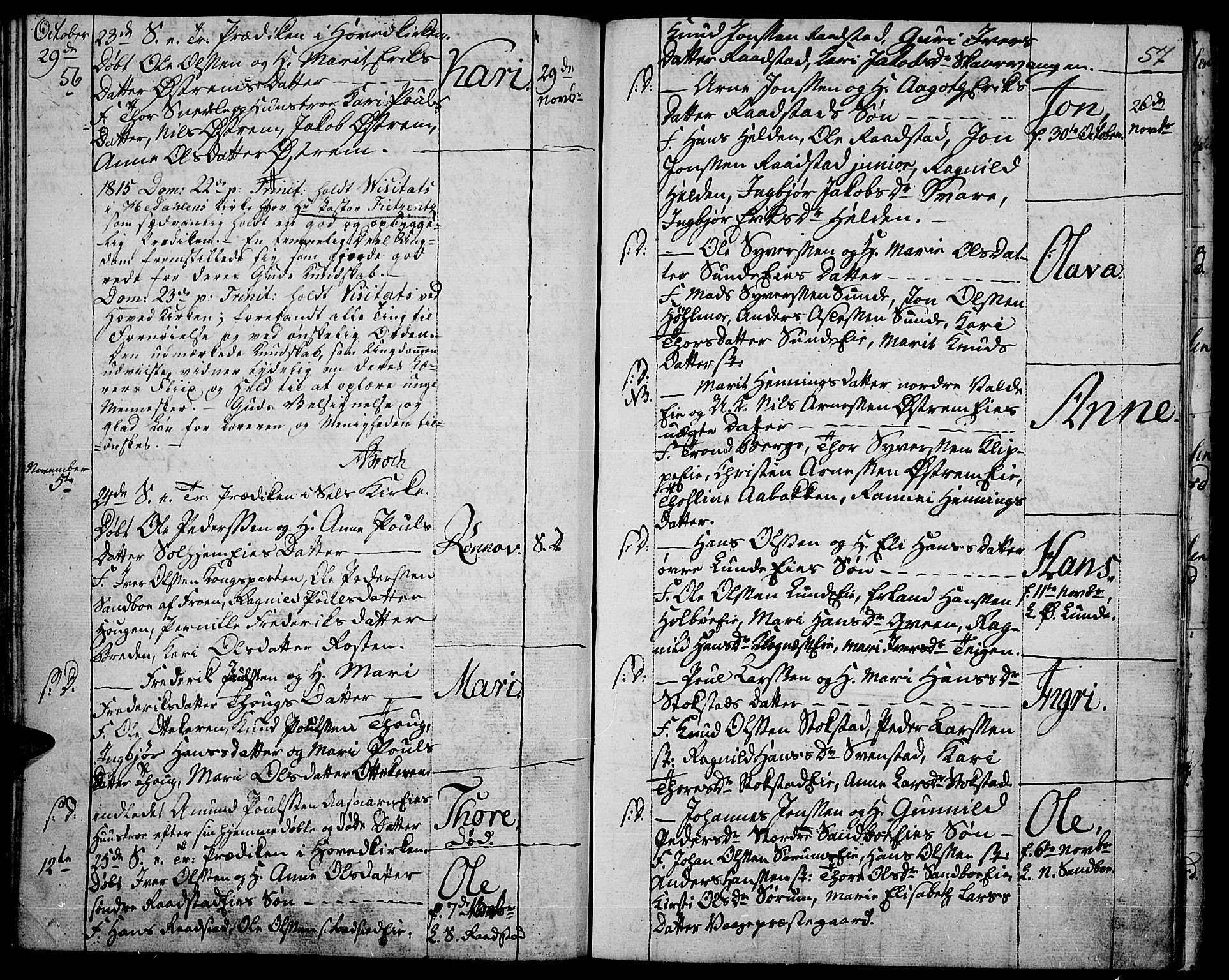 SAH, Vågå prestekontor, Ministerialbok nr. 2, 1810-1815, s. 56-57