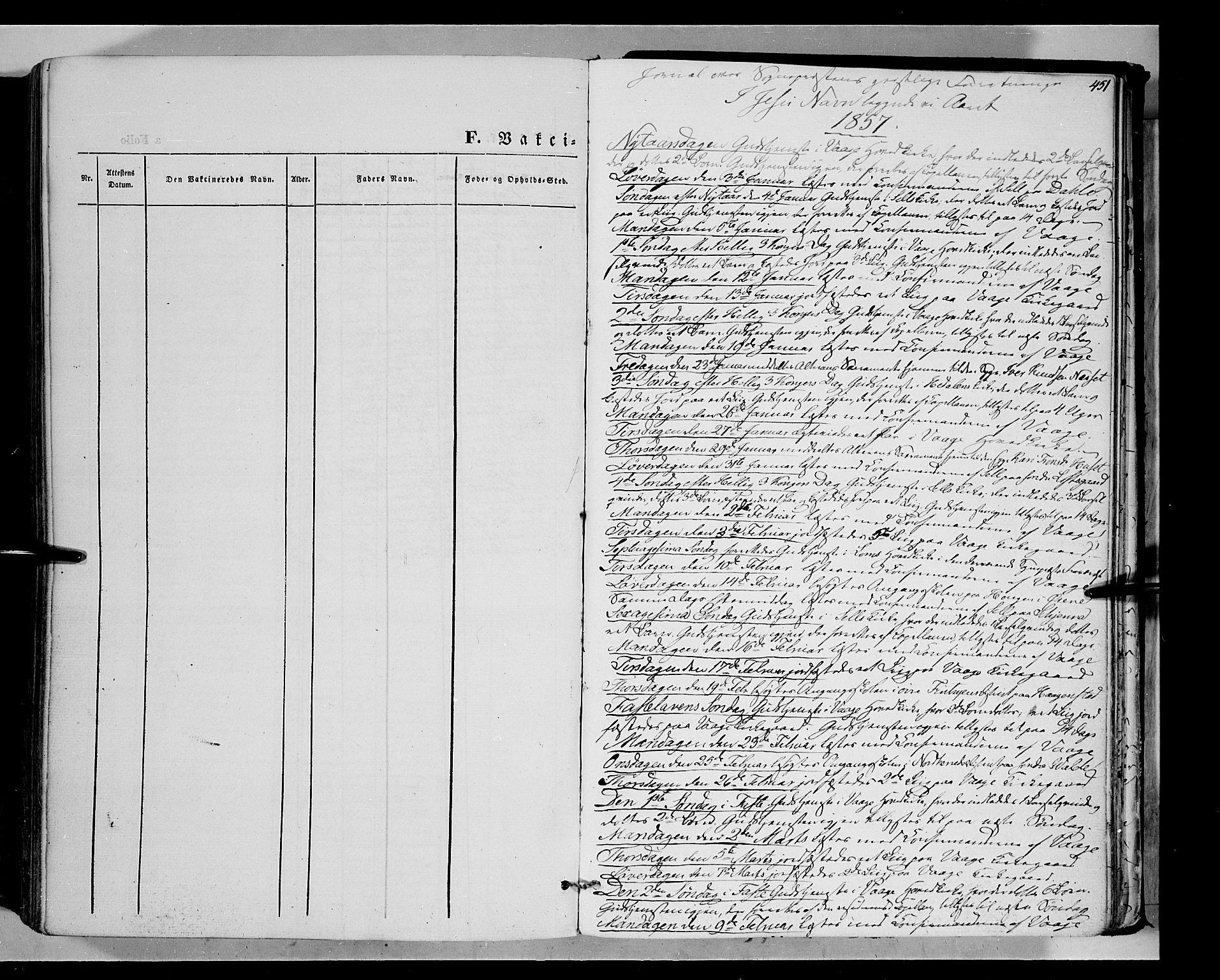 SAH, Vågå prestekontor, Ministerialbok nr. 6 /1, 1856-1872, s. 451