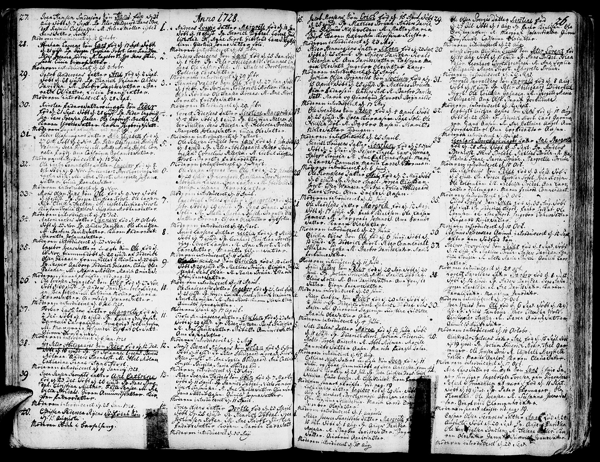 SAT, Ministerialprotokoller, klokkerbøker og fødselsregistre - Sør-Trøndelag, 681/L0925: Ministerialbok nr. 681A03, 1727-1766, s. 26