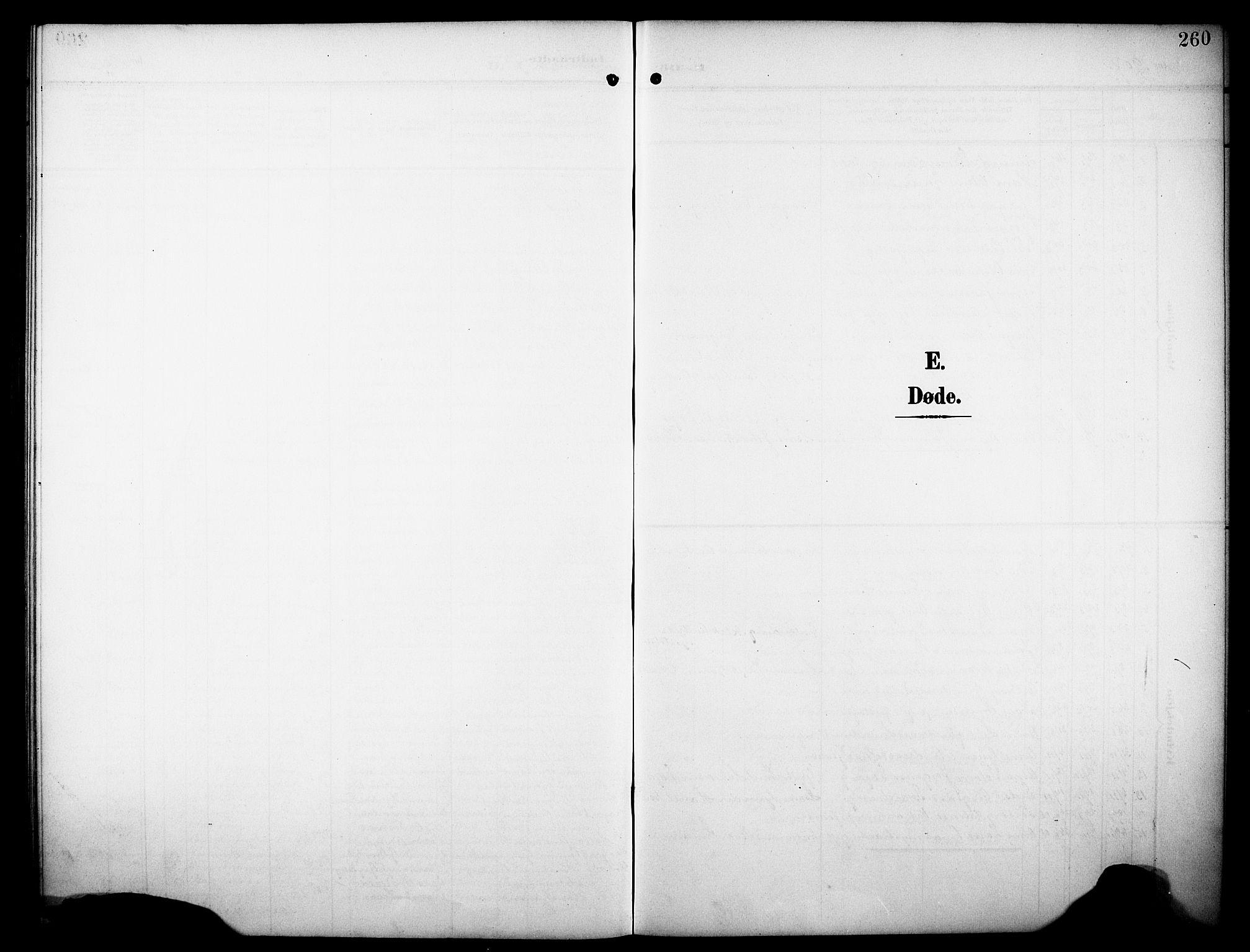 SAKO, Drangedal kirkebøker, G/Ga/L0004: Klokkerbok nr. I 4, 1901-1933, s. 260