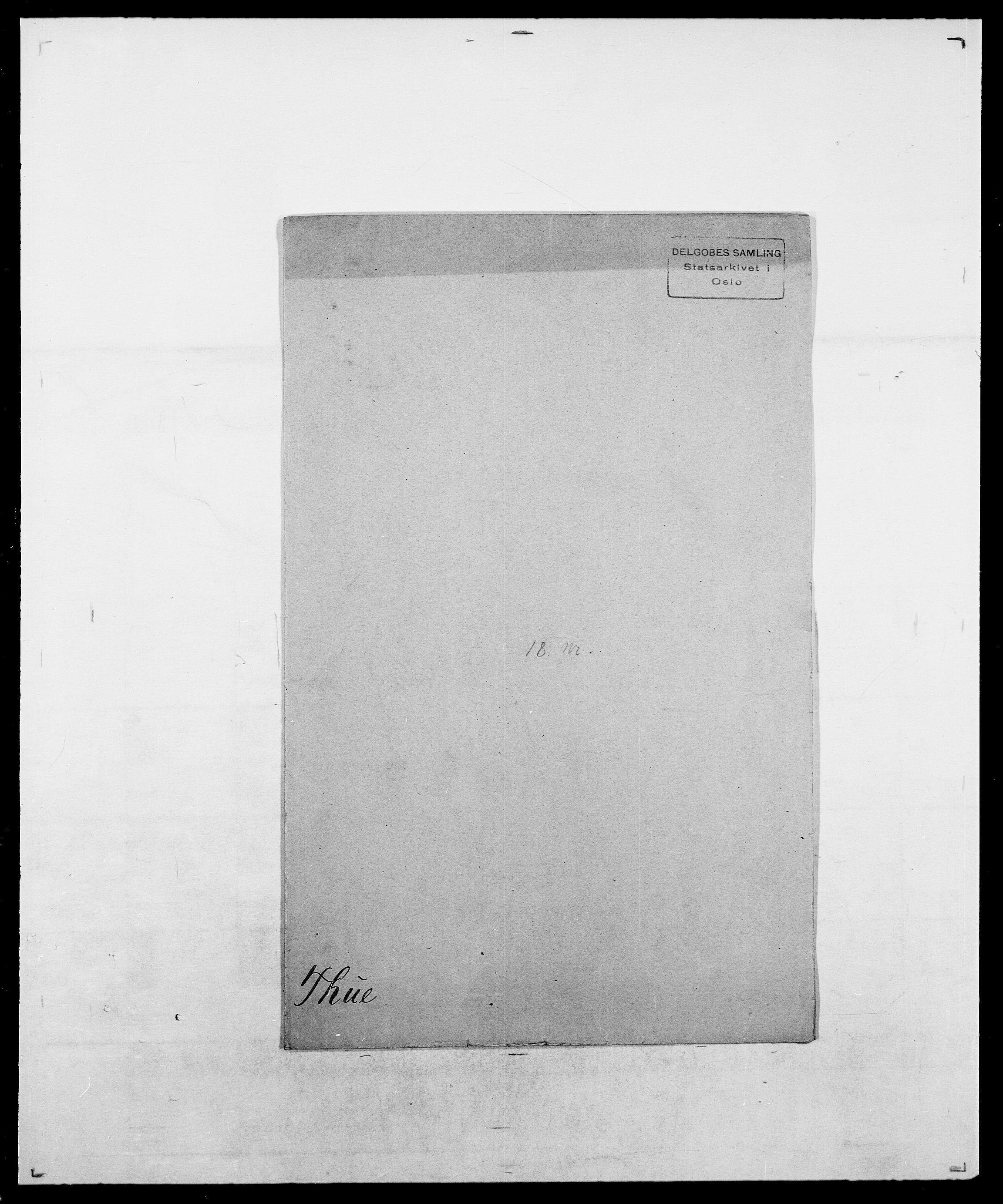 SAO, Delgobe, Charles Antoine - samling, D/Da/L0038: Svanenskjold - Thornsohn, s. 981