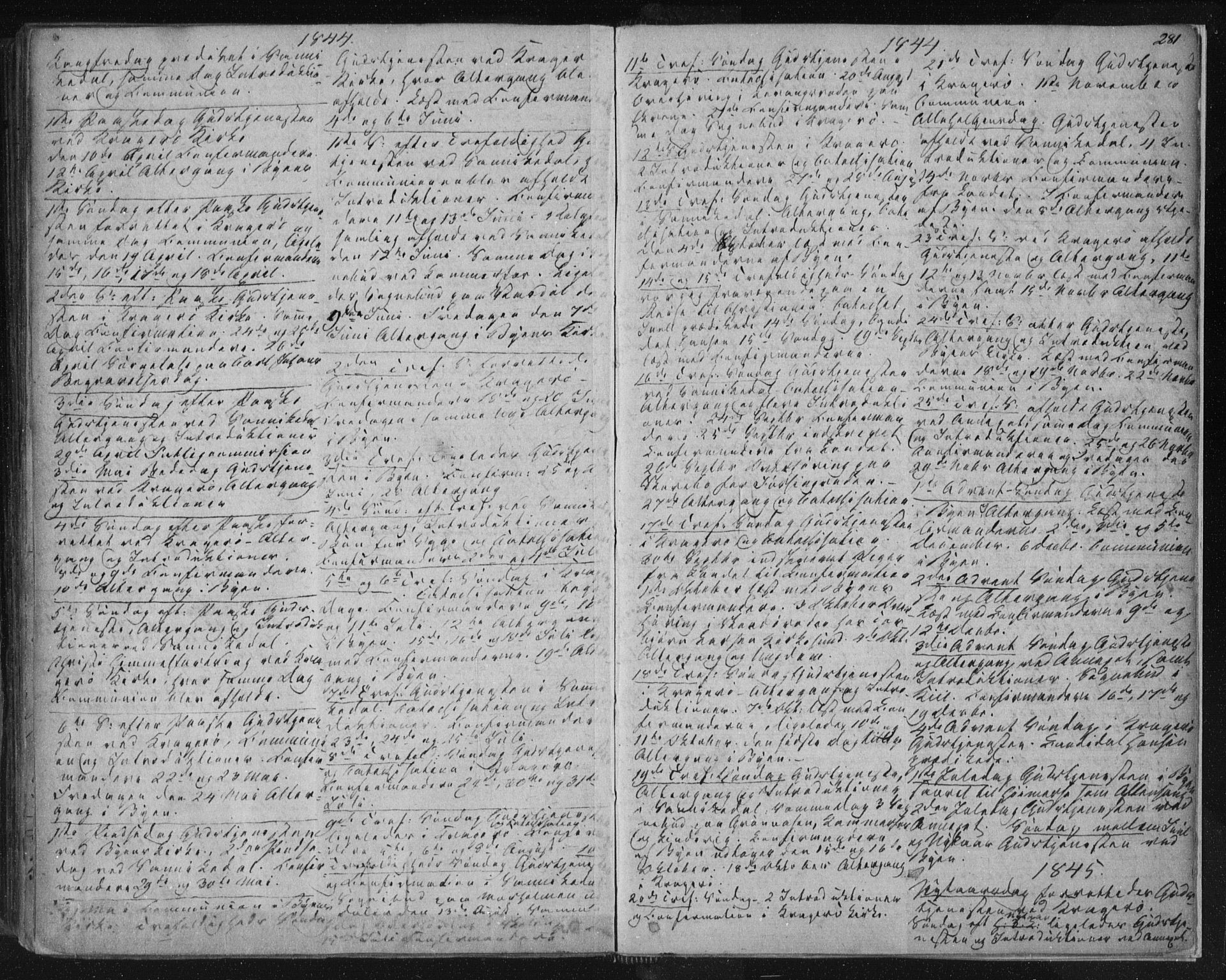 SAKO, Kragerø kirkebøker, F/Fa/L0005: Ministerialbok nr. 5, 1832-1847, s. 281