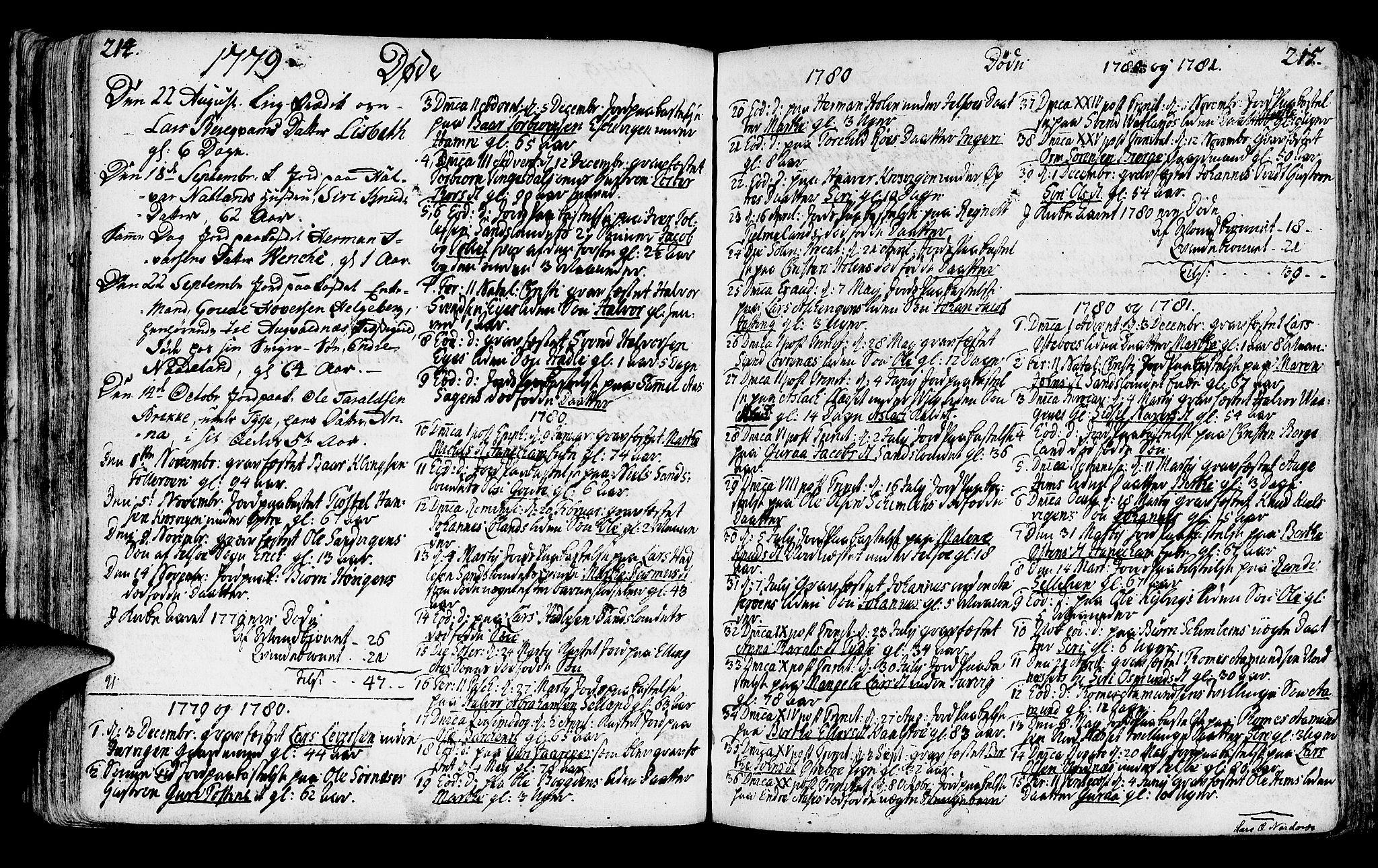 SAST, Jelsa sokneprestkontor, IV: Ministerialbok nr. A 3, 1768-1796, s. 214-215