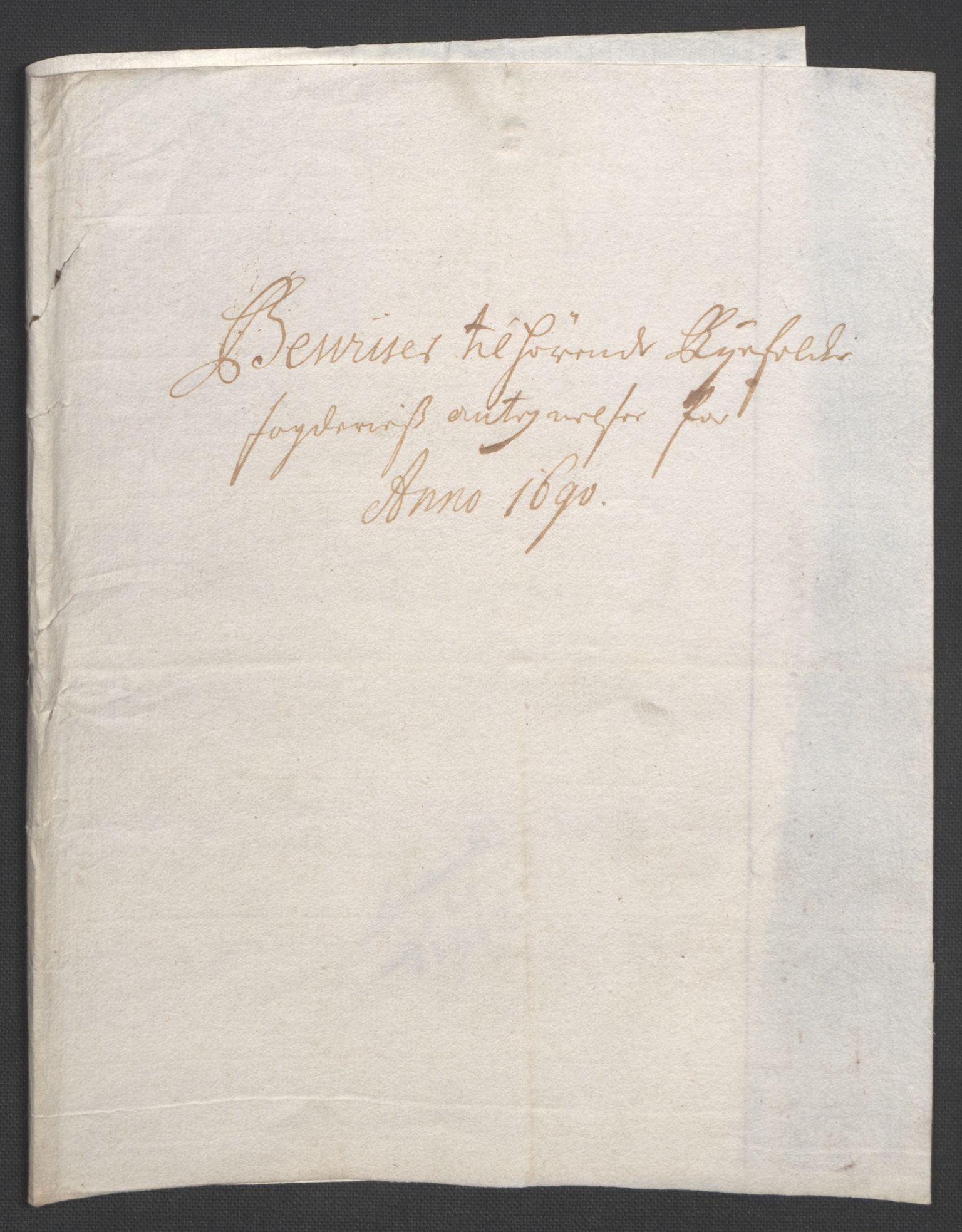 RA, Rentekammeret inntil 1814, Reviderte regnskaper, Fogderegnskap, R47/L2856: Fogderegnskap Ryfylke, 1689-1693, s. 265