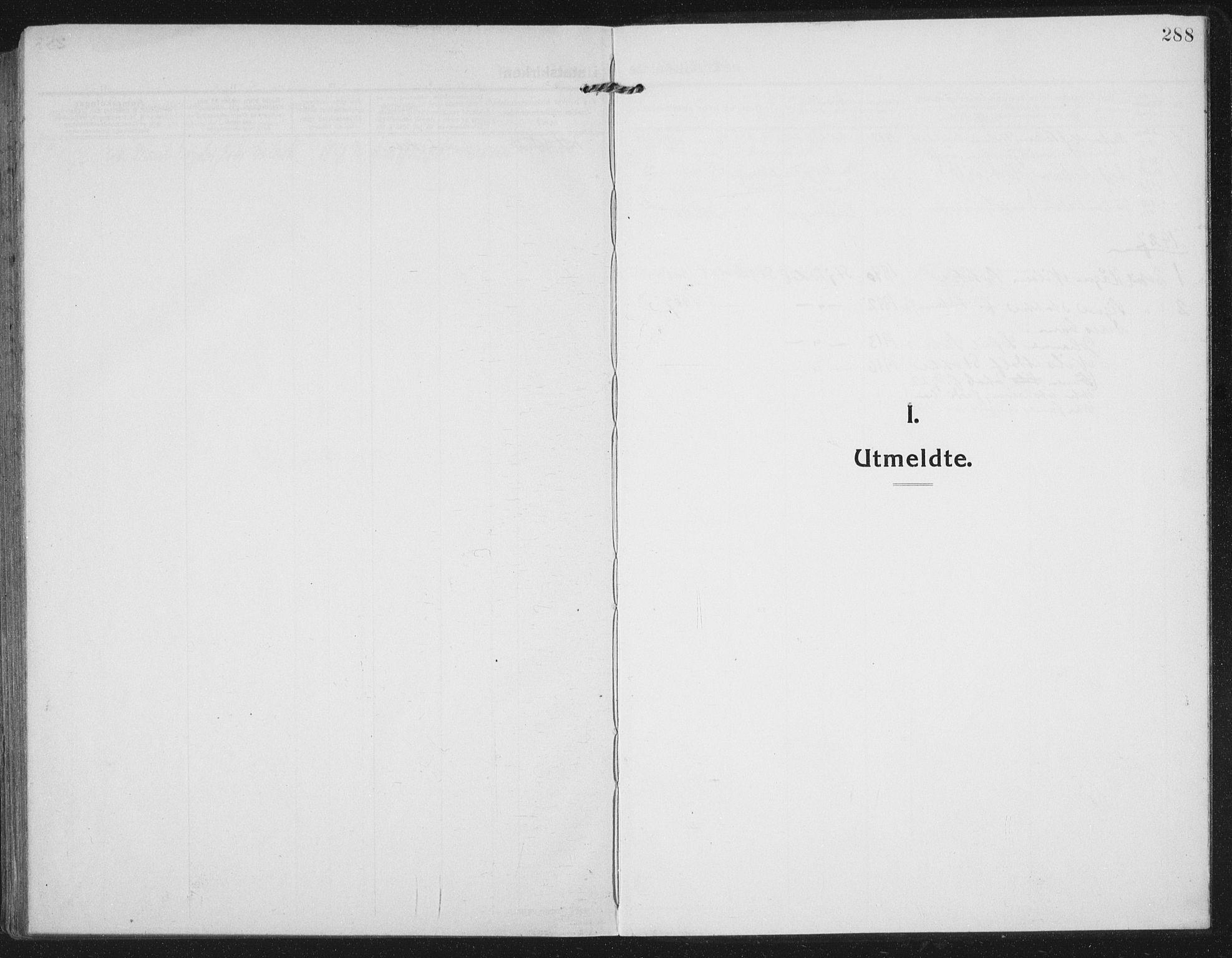 SAT, Ministerialprotokoller, klokkerbøker og fødselsregistre - Nord-Trøndelag, 709/L0083: Ministerialbok nr. 709A23, 1916-1928, s. 288