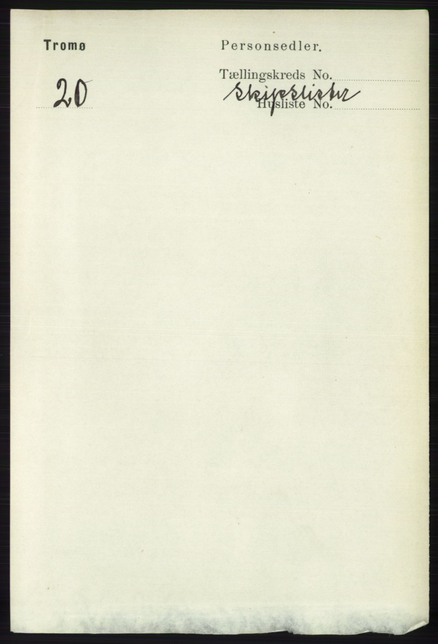 RA, Folketelling 1891 for 0921 Tromøy herred, 1891, s. 3032