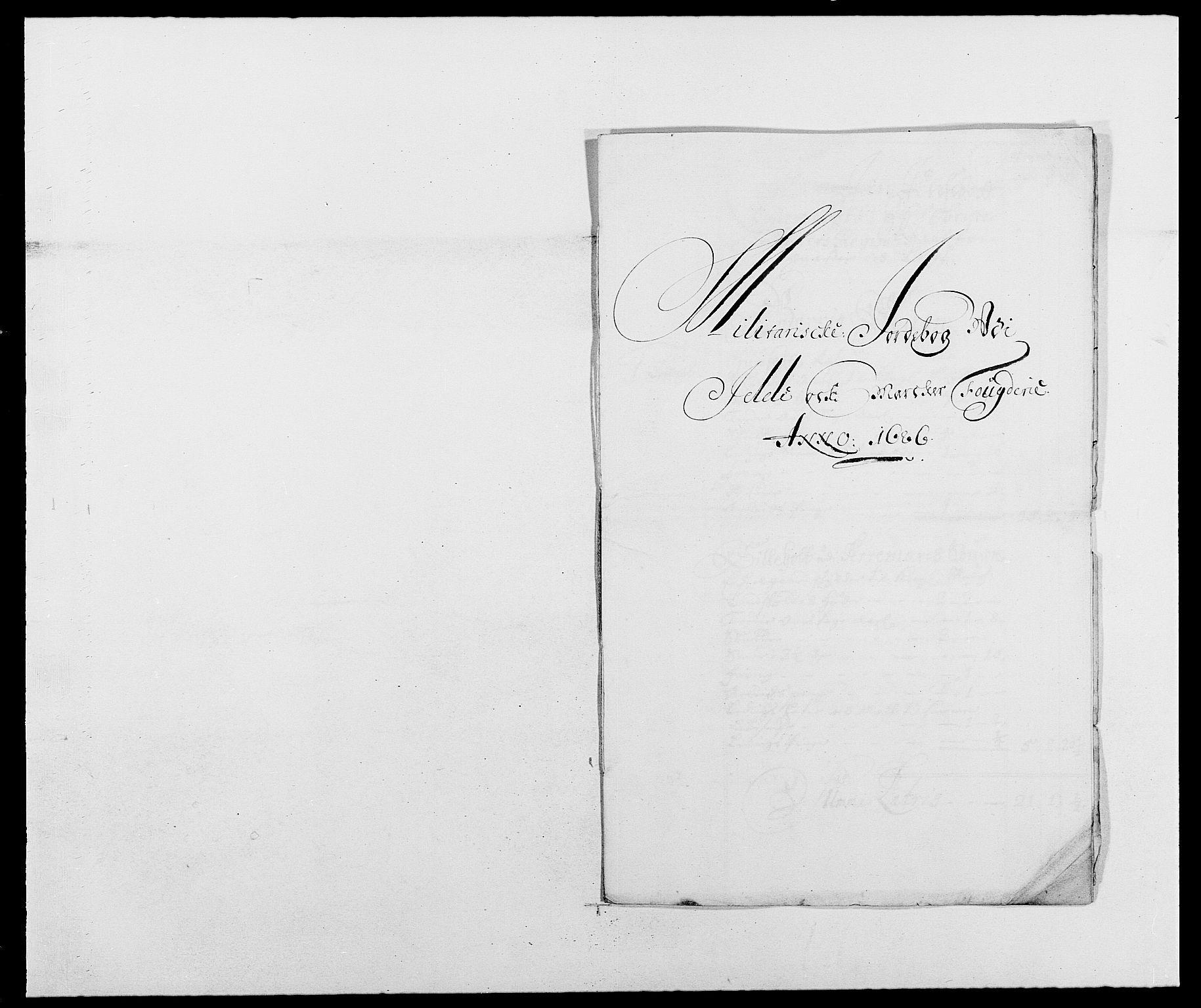 RA, Rentekammeret inntil 1814, Reviderte regnskaper, Fogderegnskap, R01/L0006: Fogderegnskap Idd og Marker, 1685-1686, s. 402