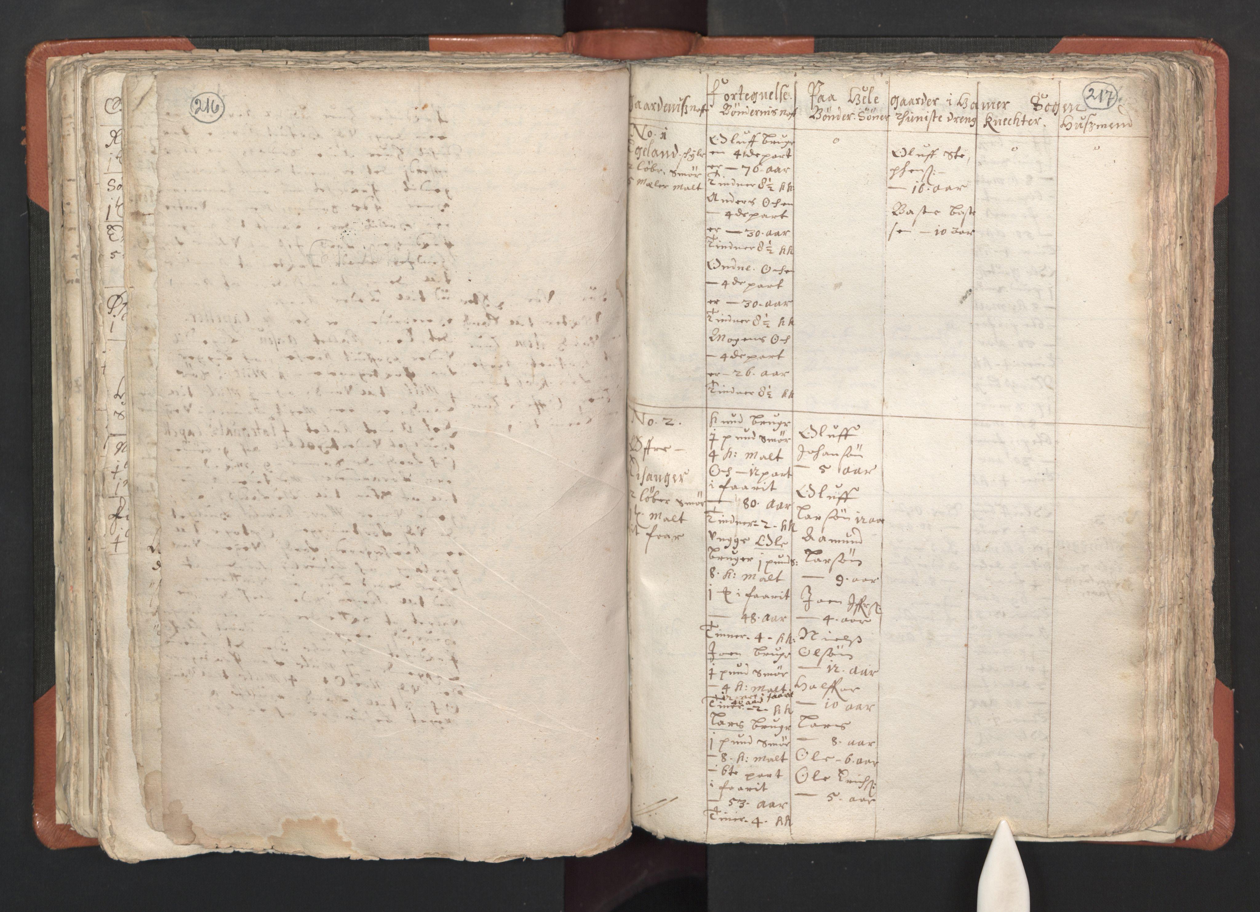 RA, Sogneprestenes manntall 1664-1666, nr. 22: Nordhordland prosti, 1664-1666, s. 216-217