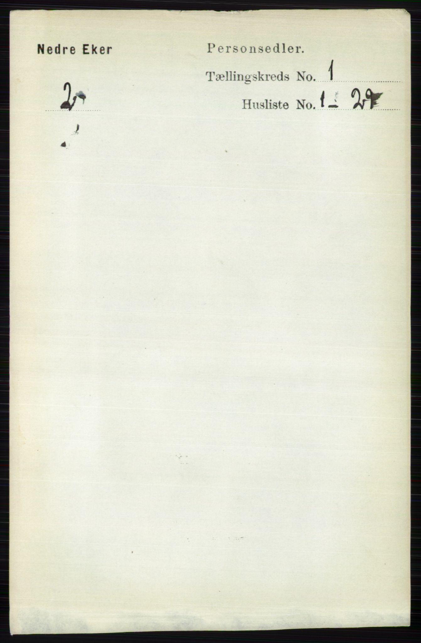 RA, Folketelling 1891 for 0625 Nedre Eiker herred, 1891, s. 89