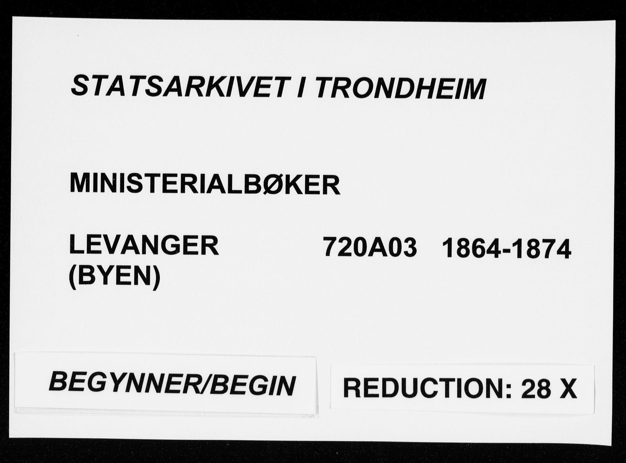 SAT, Ministerialprotokoller, klokkerbøker og fødselsregistre - Nord-Trøndelag, 720/L0186: Ministerialbok nr. 720A03, 1864-1874