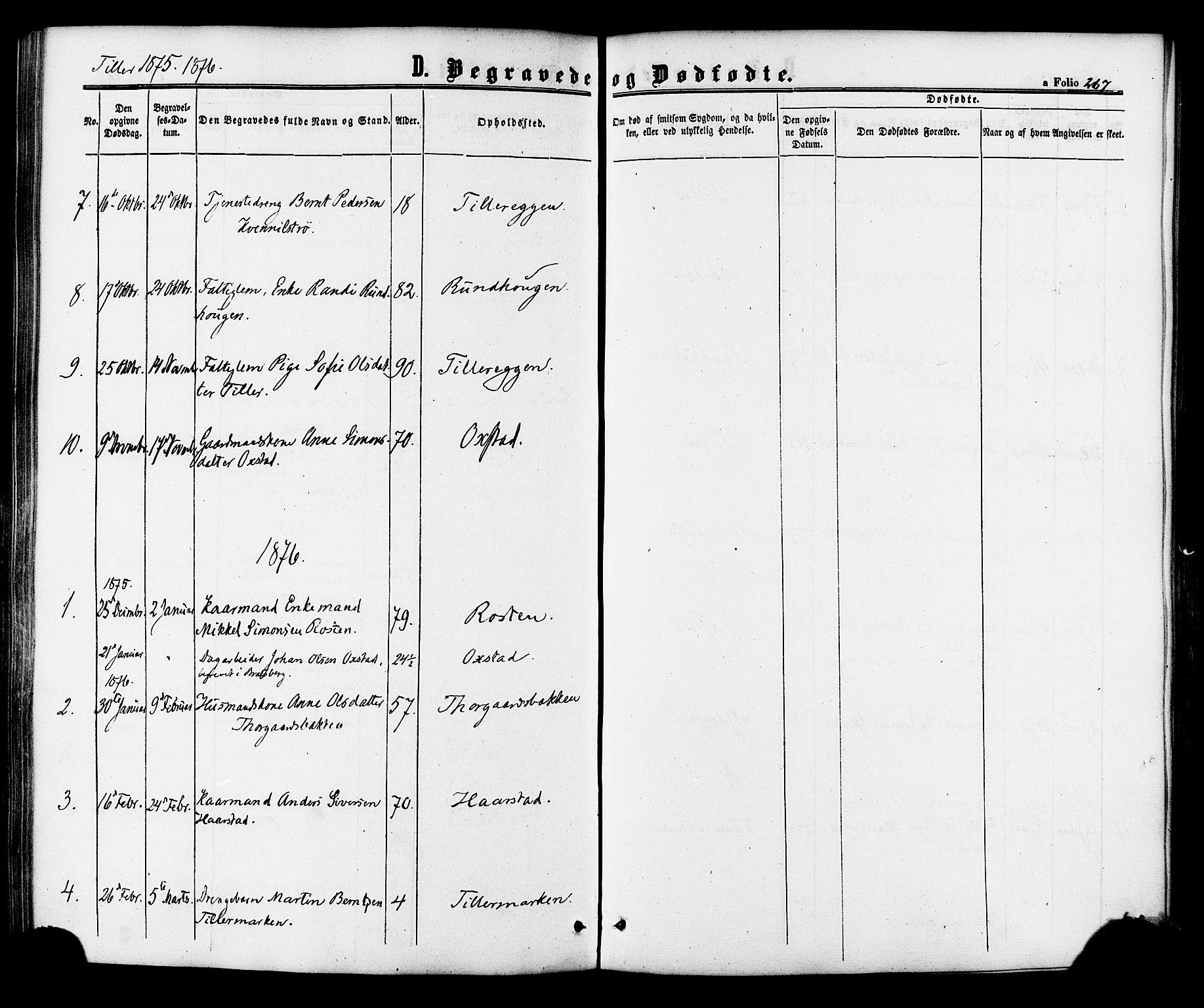 SAT, Ministerialprotokoller, klokkerbøker og fødselsregistre - Sør-Trøndelag, 618/L0443: Ministerialbok nr. 618A06 /2, 1863-1879, s. 267