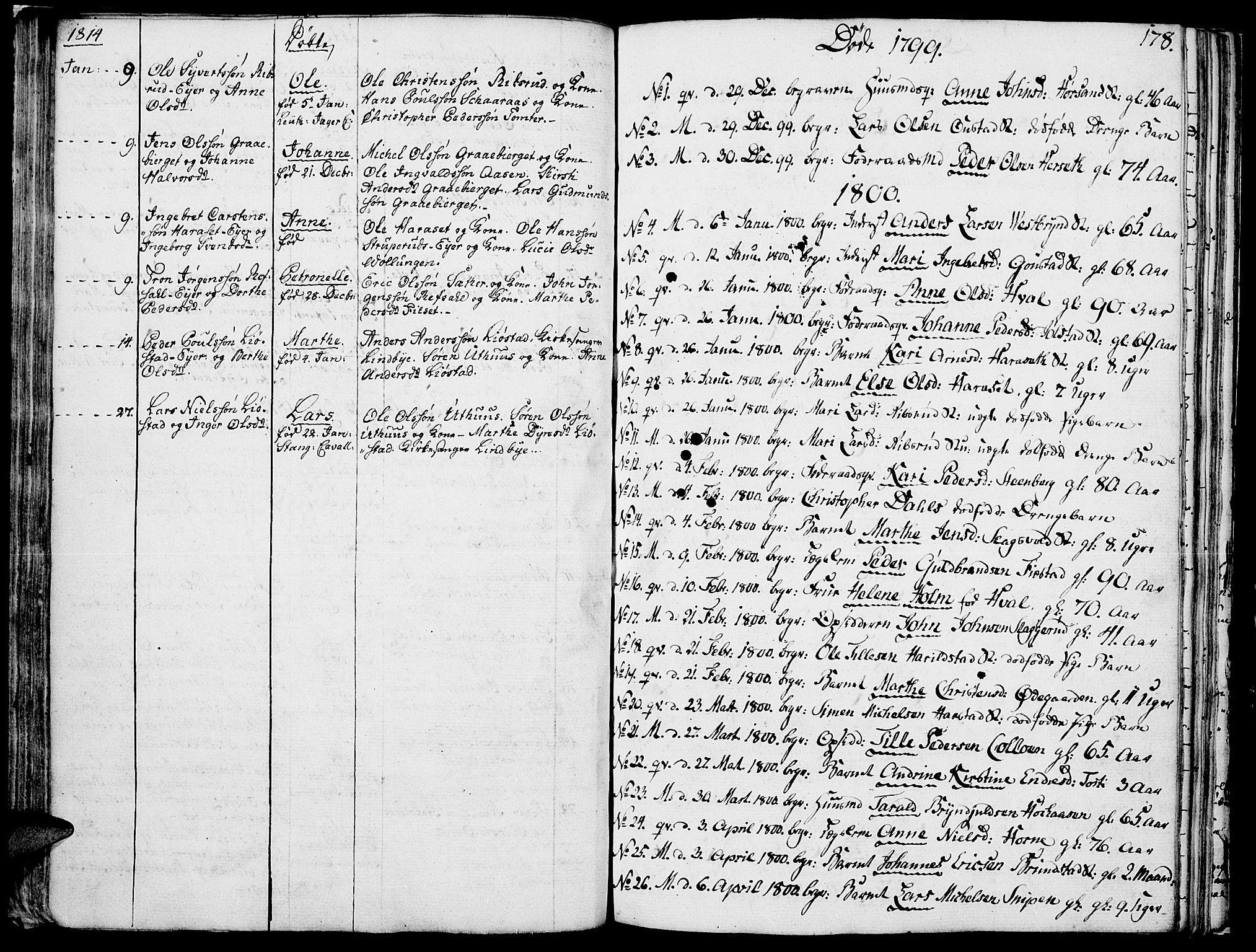 SAH, Romedal prestekontor, K/L0001: Ministerialbok nr. 1, 1799-1814, s. 178
