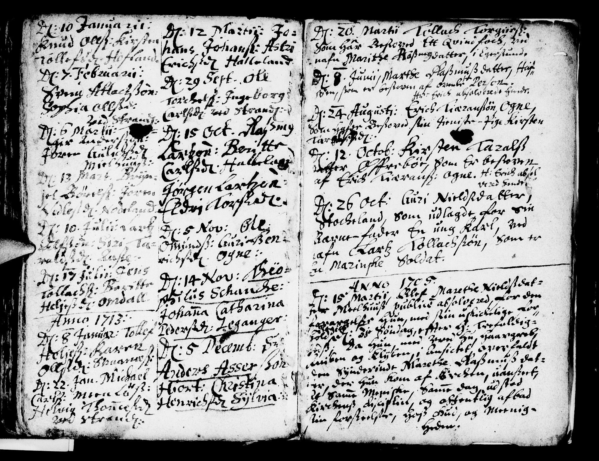 SAST, Egersund sokneprestkontor, Ministerialbok nr. A 1, 1664-1717