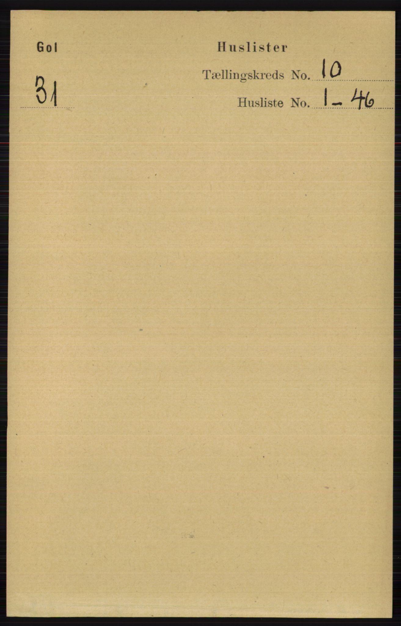 RA, Folketelling 1891 for 0617 Gol og Hemsedal herred, 1891, s. 3979