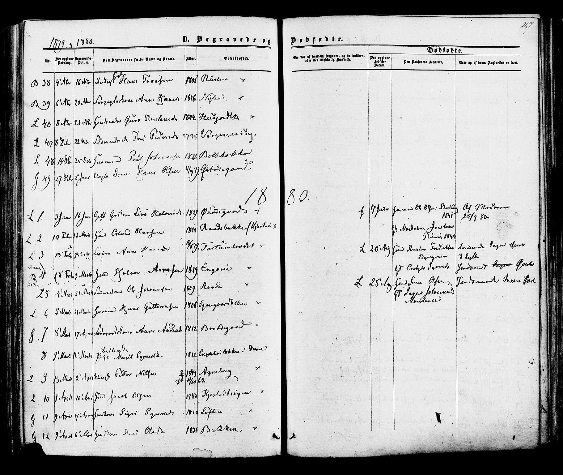 SAH, Lom prestekontor, K/L0007: Ministerialbok nr. 7, 1863-1884, s. 267
