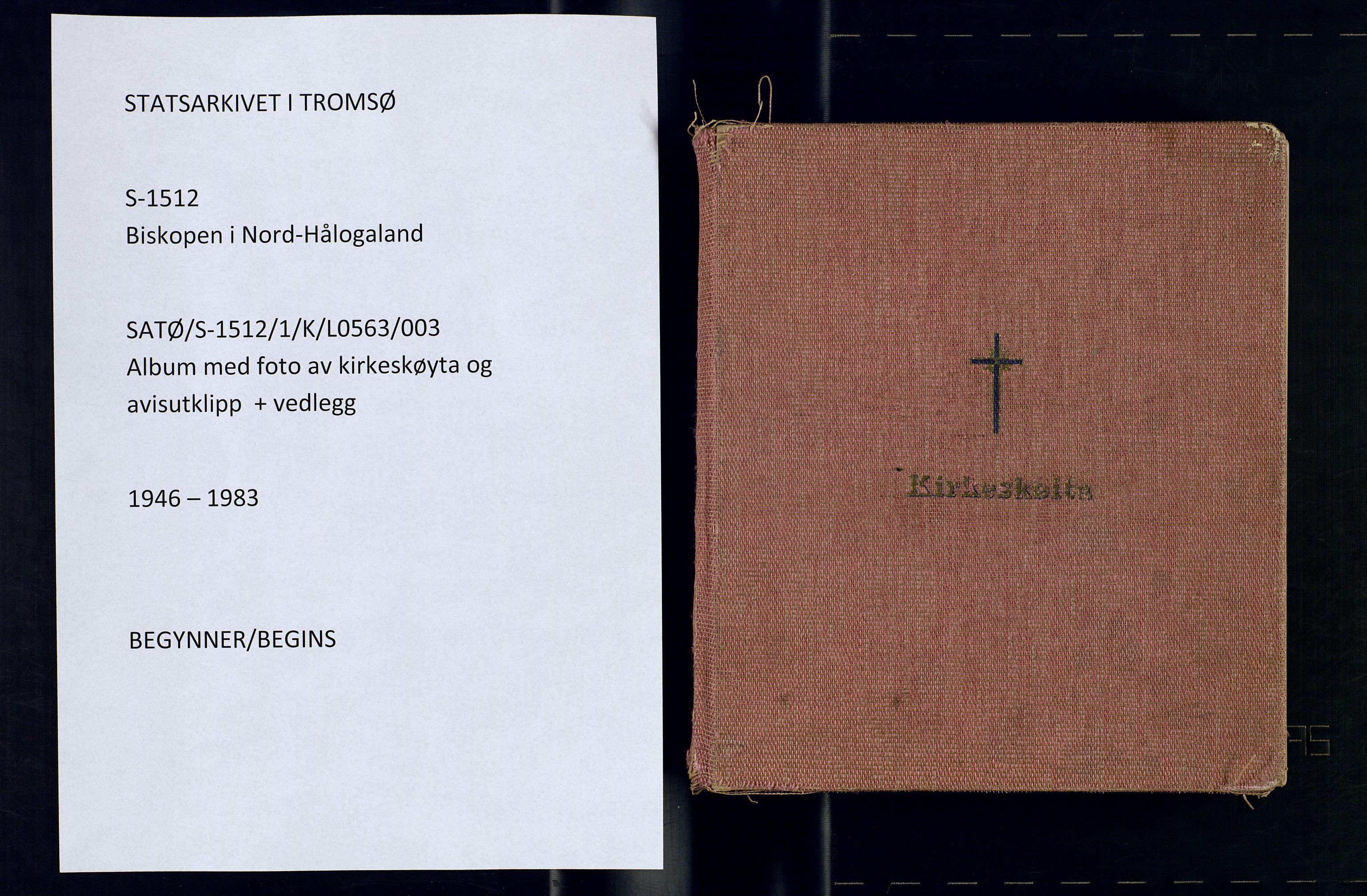 SATØ, Biskopen i Nord-Hålogaland, K/L0563: Kirkeskøyta, presteskøytene, 1946-1983