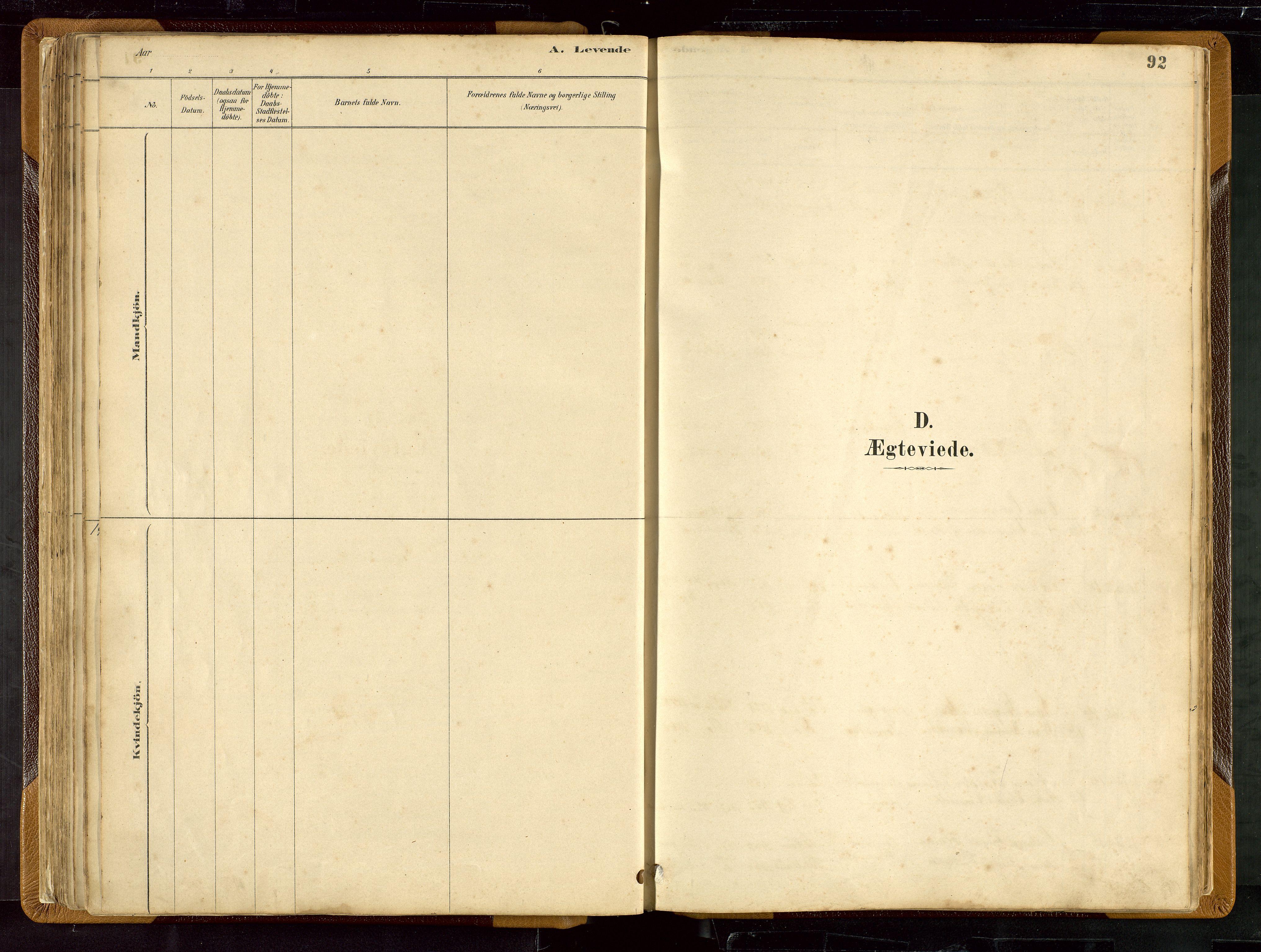 SAST, Hetland sokneprestkontor, 30/30BB/L0007: Klokkerbok nr. B 7, 1878-1910, s. 92