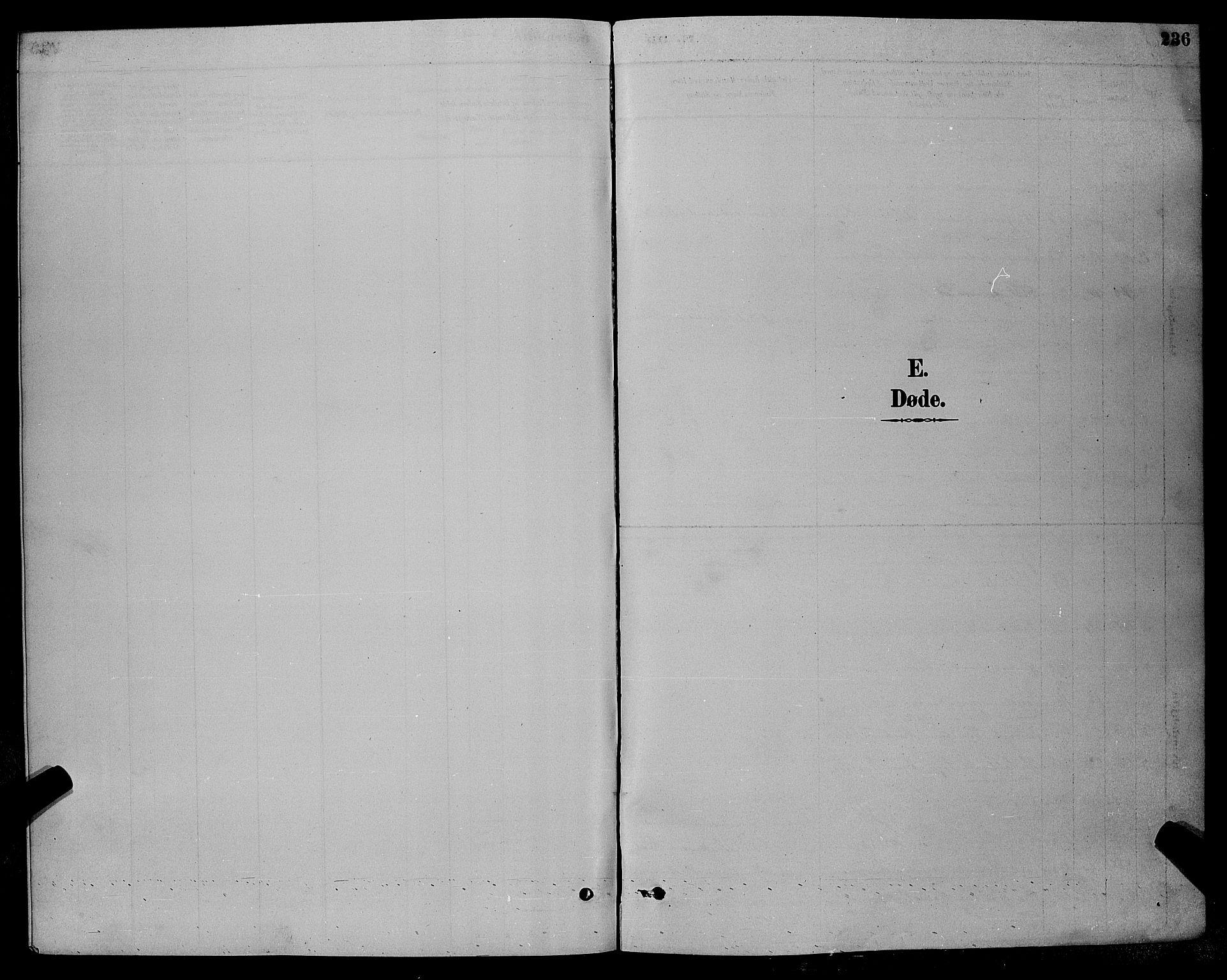 SAK, Øyestad sokneprestkontor, F/Fb/L0009: Klokkerbok nr. B 9, 1886-1896, s. 236