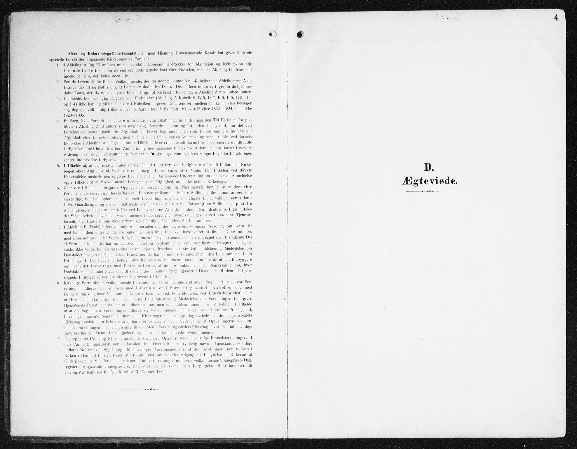 SAB, Domkirken Sokneprestembete, H/Haa/L0038: Ministerialbok nr. D 5, 1906-1921, s. 4