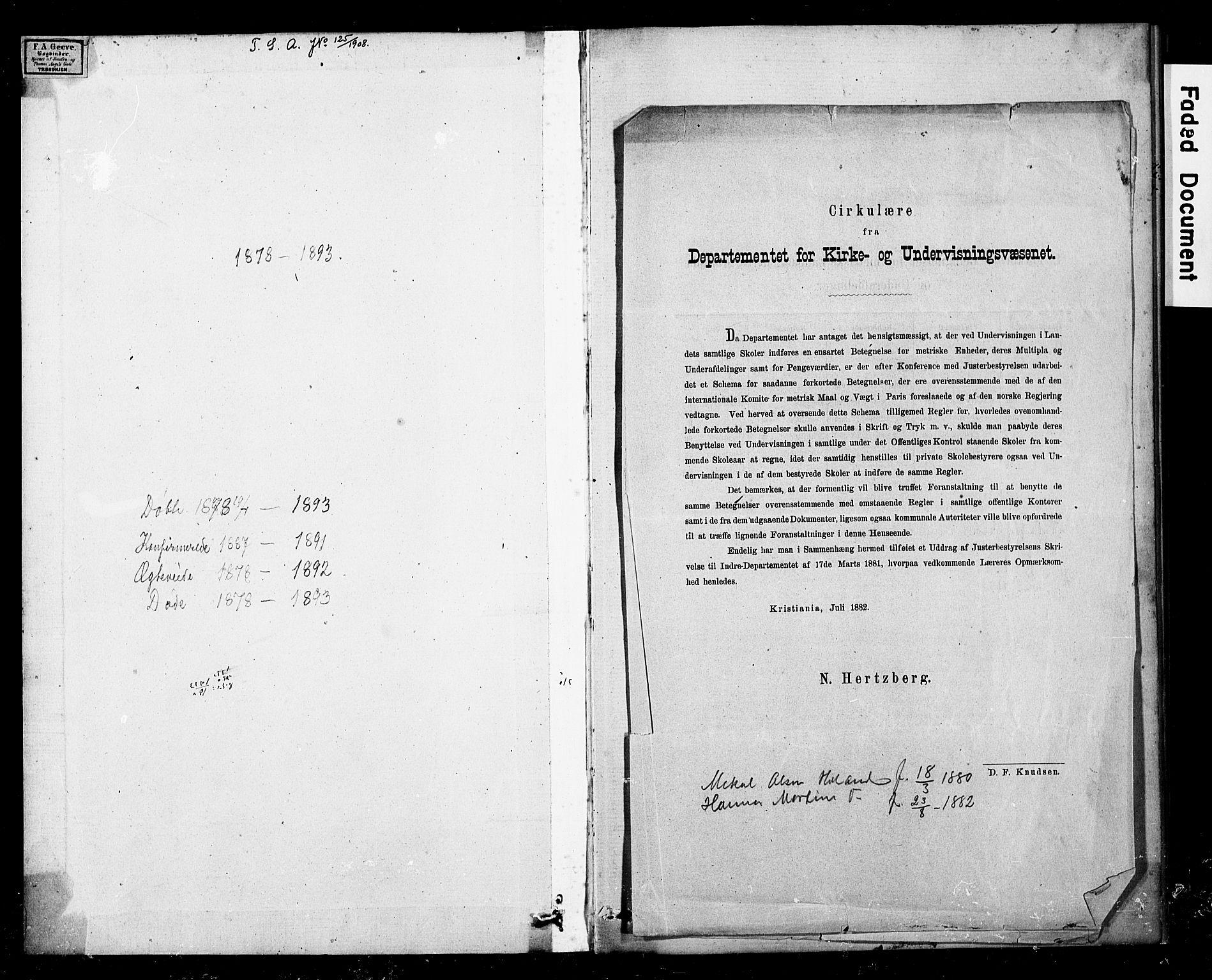 SAT, Ministerialprotokoller, klokkerbøker og fødselsregistre - Nord-Trøndelag, 783/L0661: Klokkerbok nr. 783C01, 1878-1893
