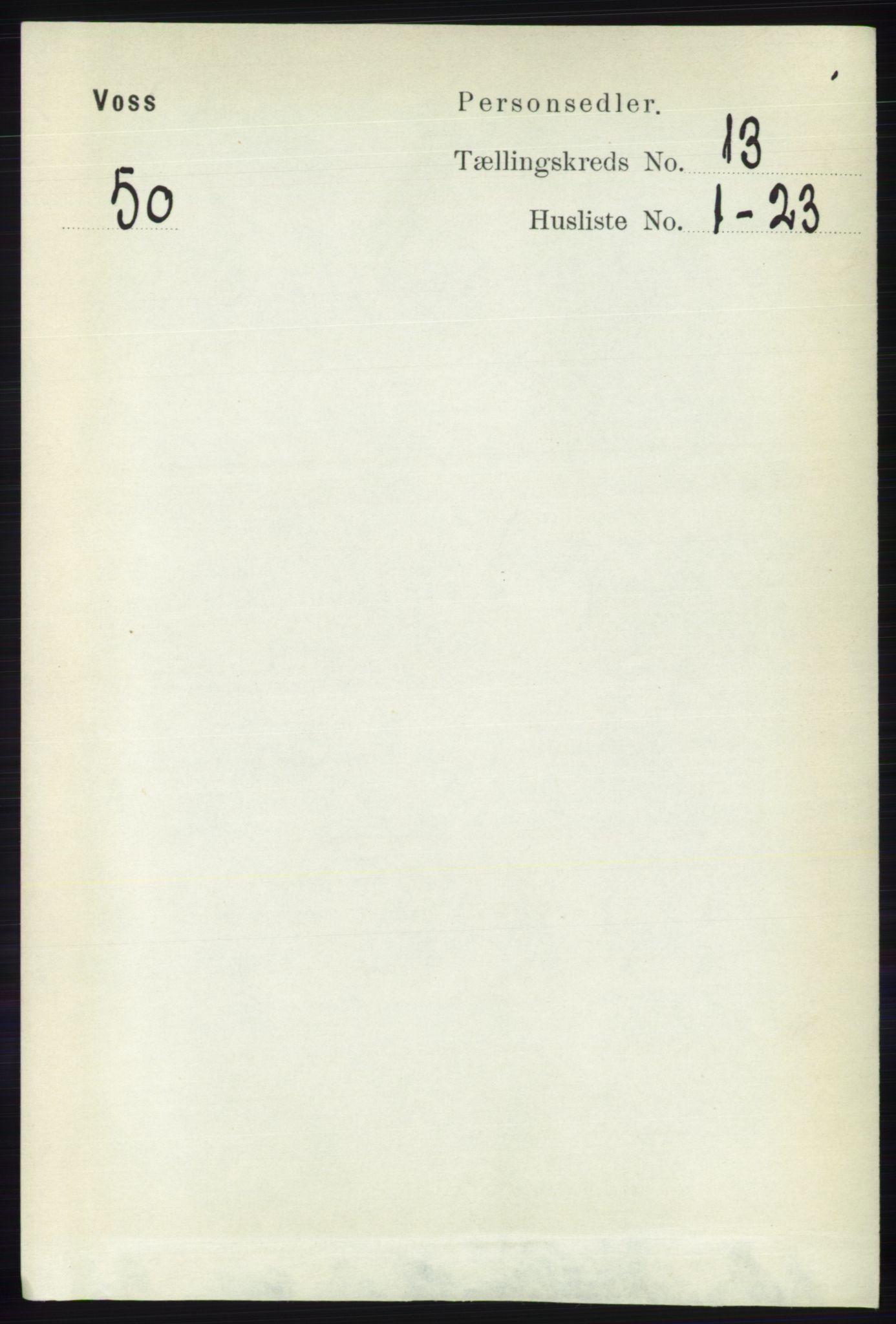 RA, Folketelling 1891 for 1235 Voss herred, 1891, s. 6887