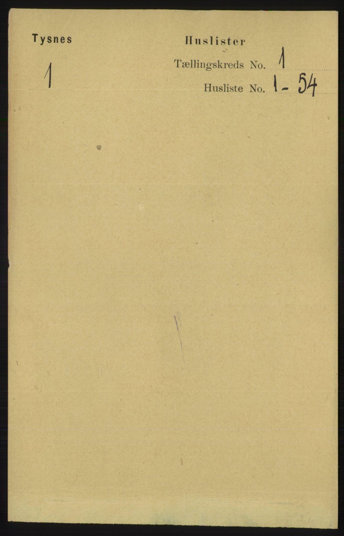 RA, Folketelling 1891 for 1223 Tysnes herred, 1891, s. 31